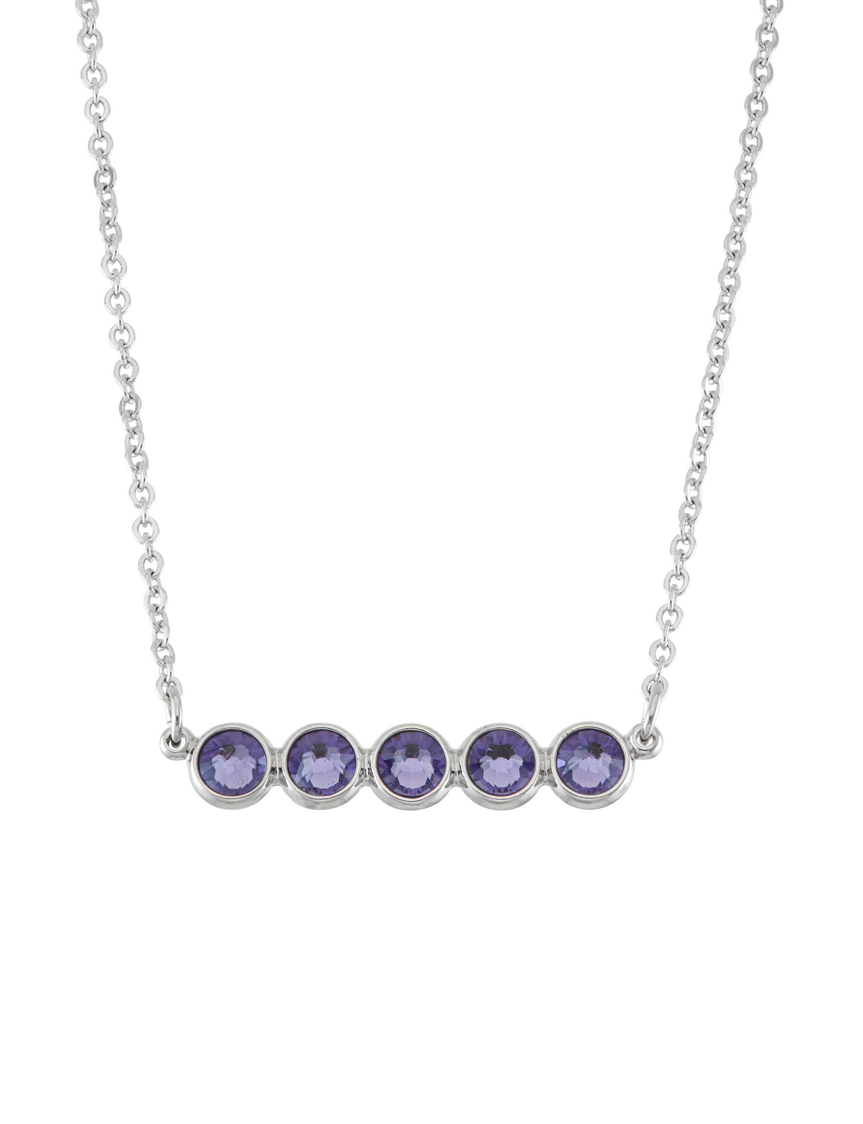 5th & Luxe Purple Necklaces & Pendants Fine Jewelry