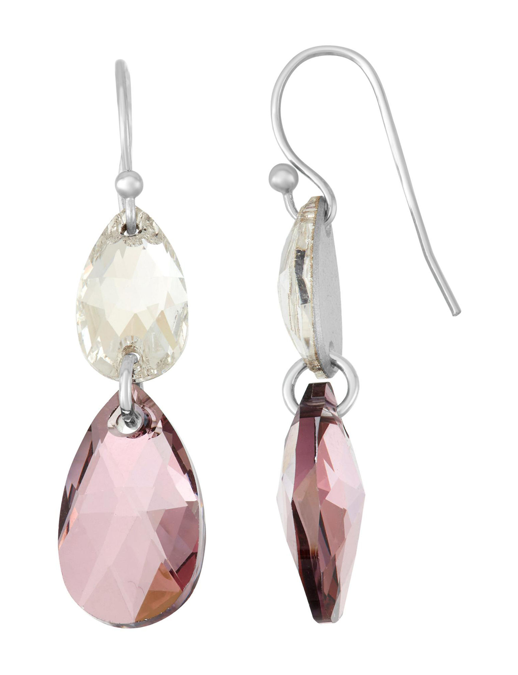 Chroma Silver / Pink Drops Earrings Fine Jewelry