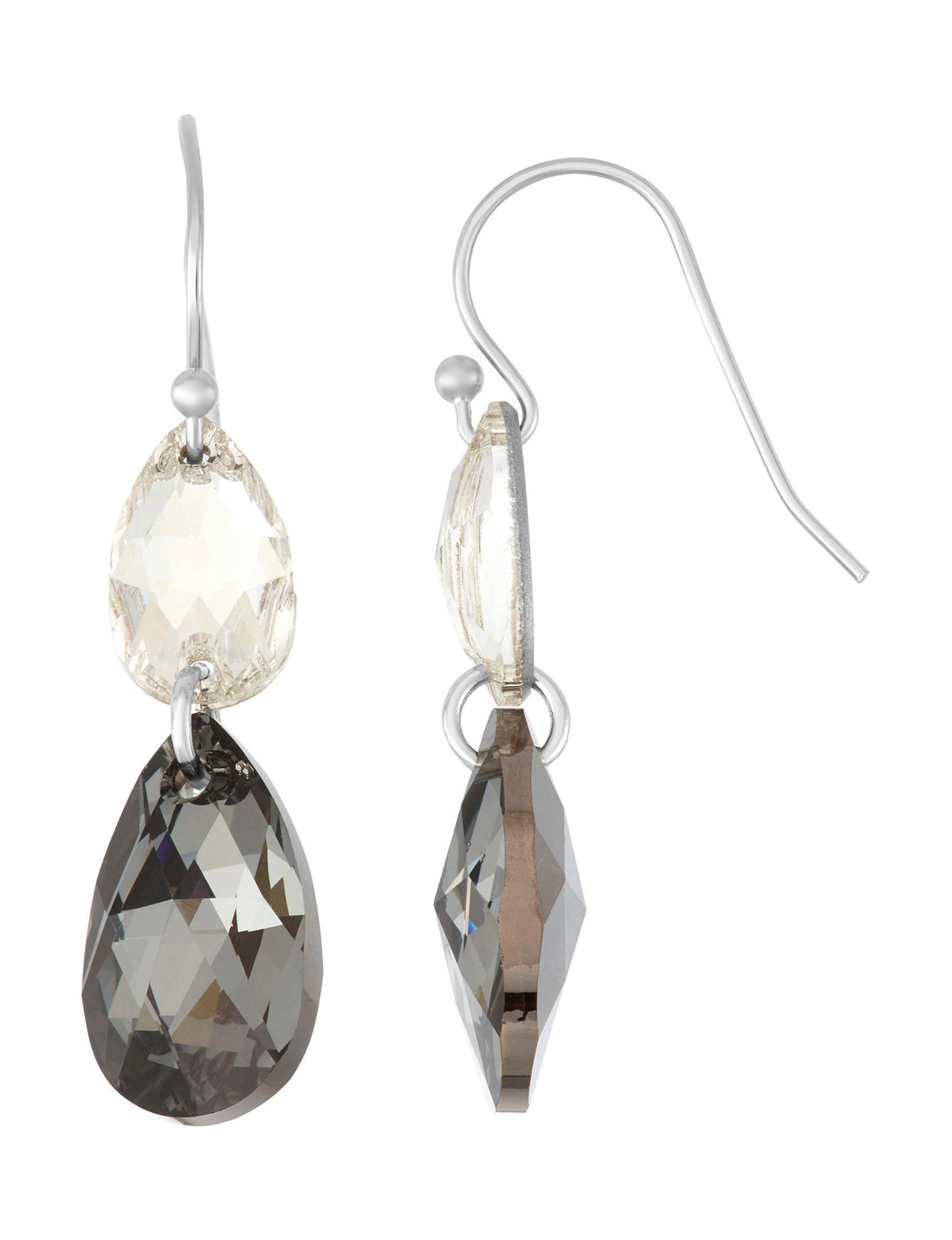 Chroma Silver Drops Earrings Fine Jewelry