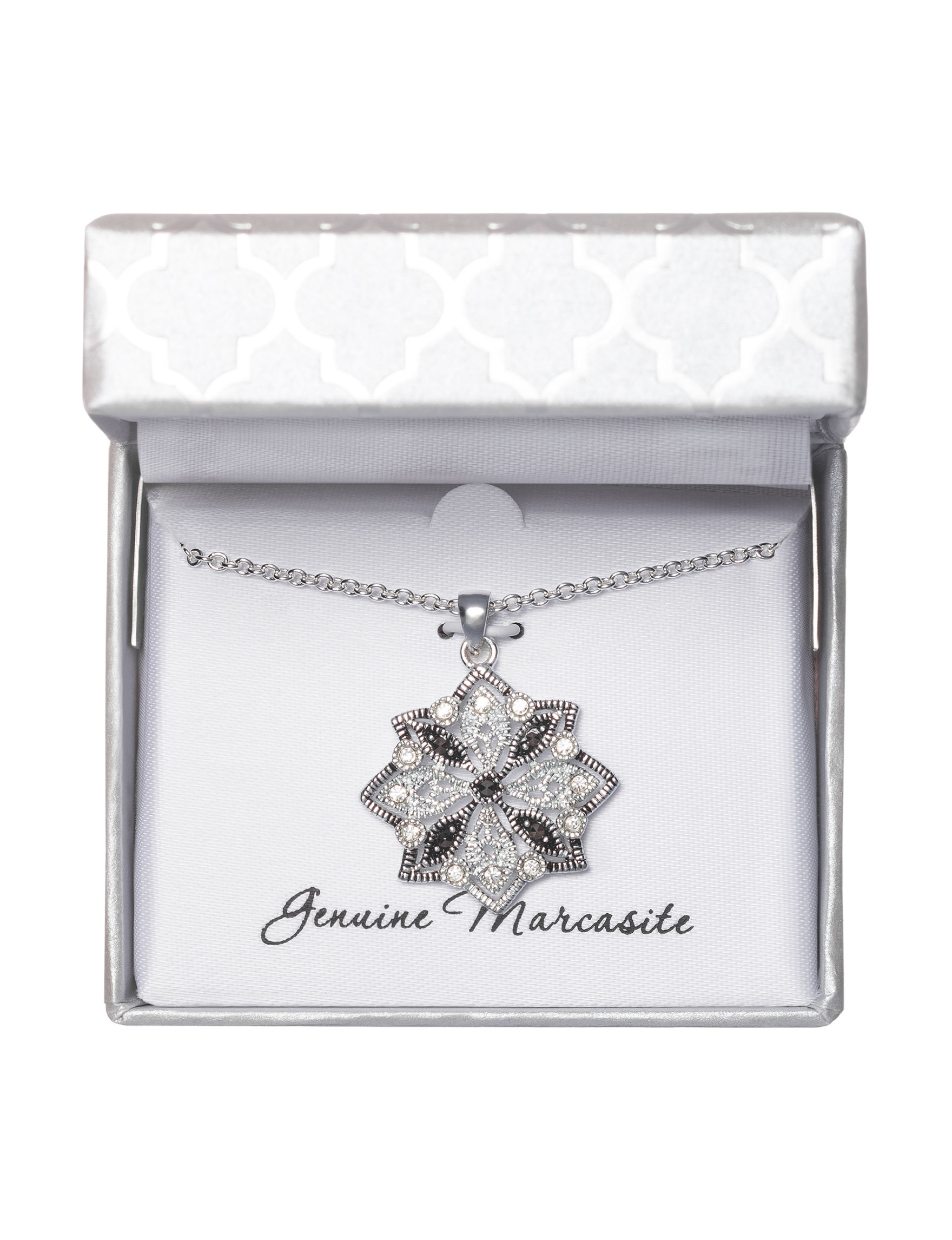 Marsala Black / Silver Necklaces & Pendants Fine Jewelry