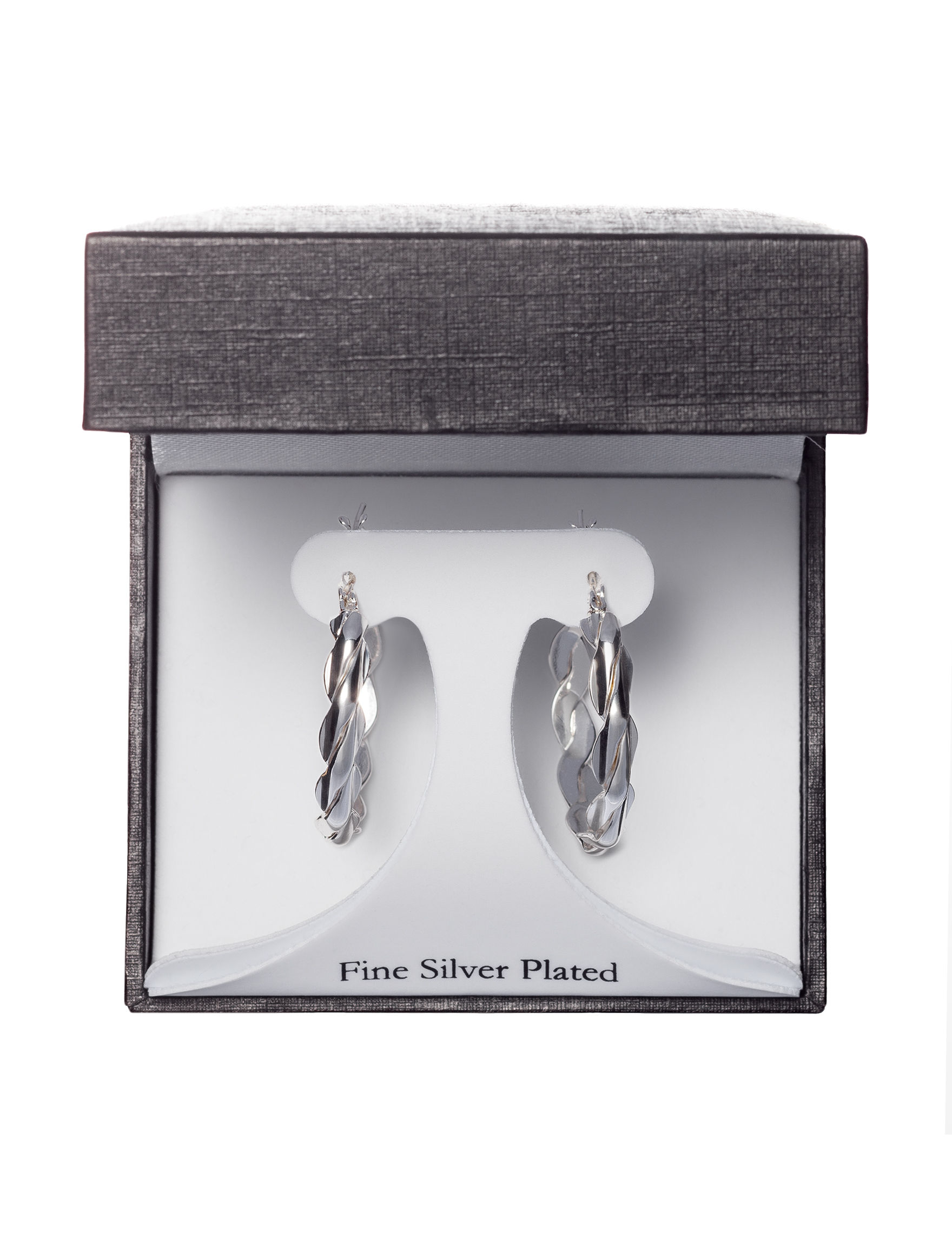 Athra Silver Hoops Earrings Fine Jewelry