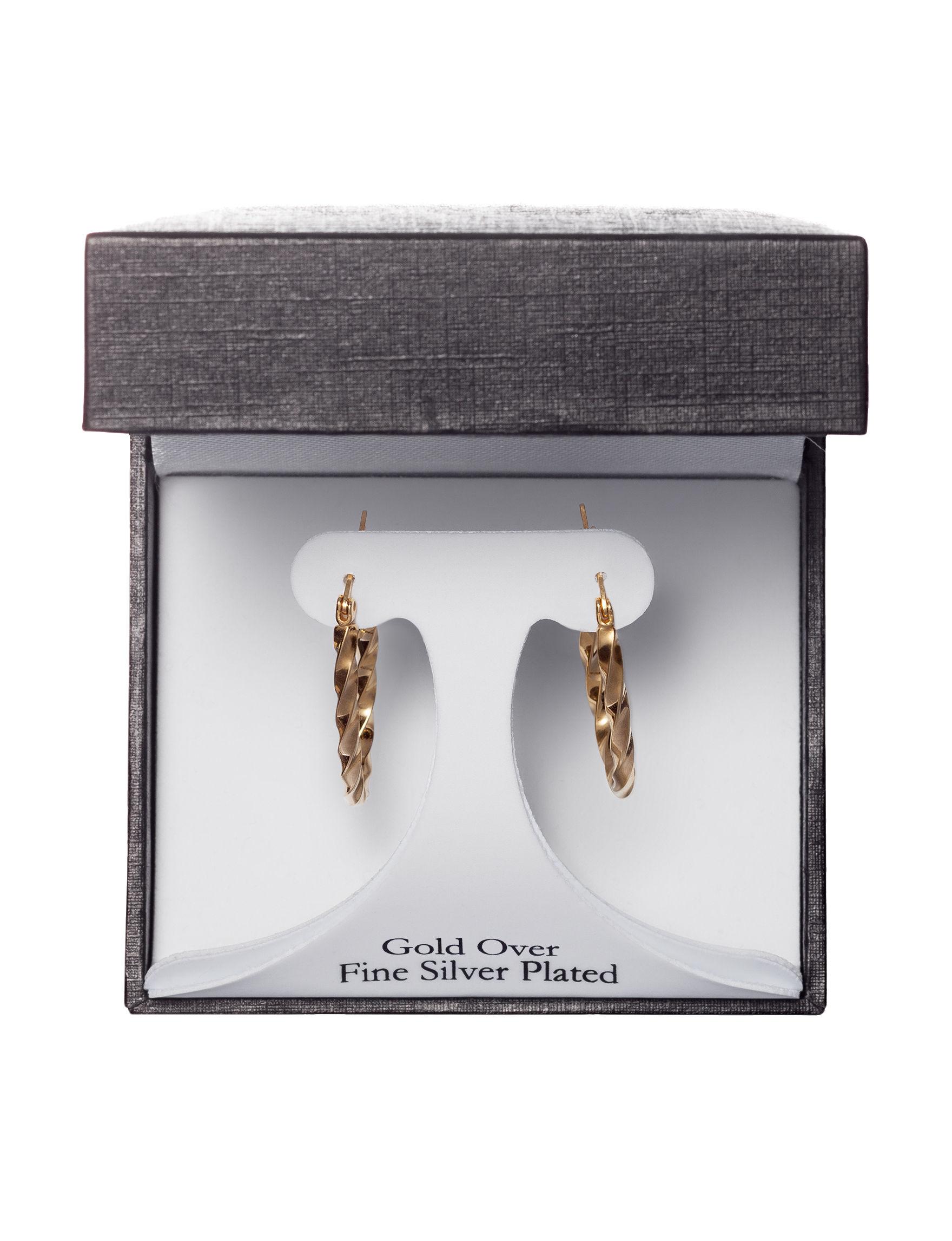 Athra Gold Hoops Earrings Fine Jewelry