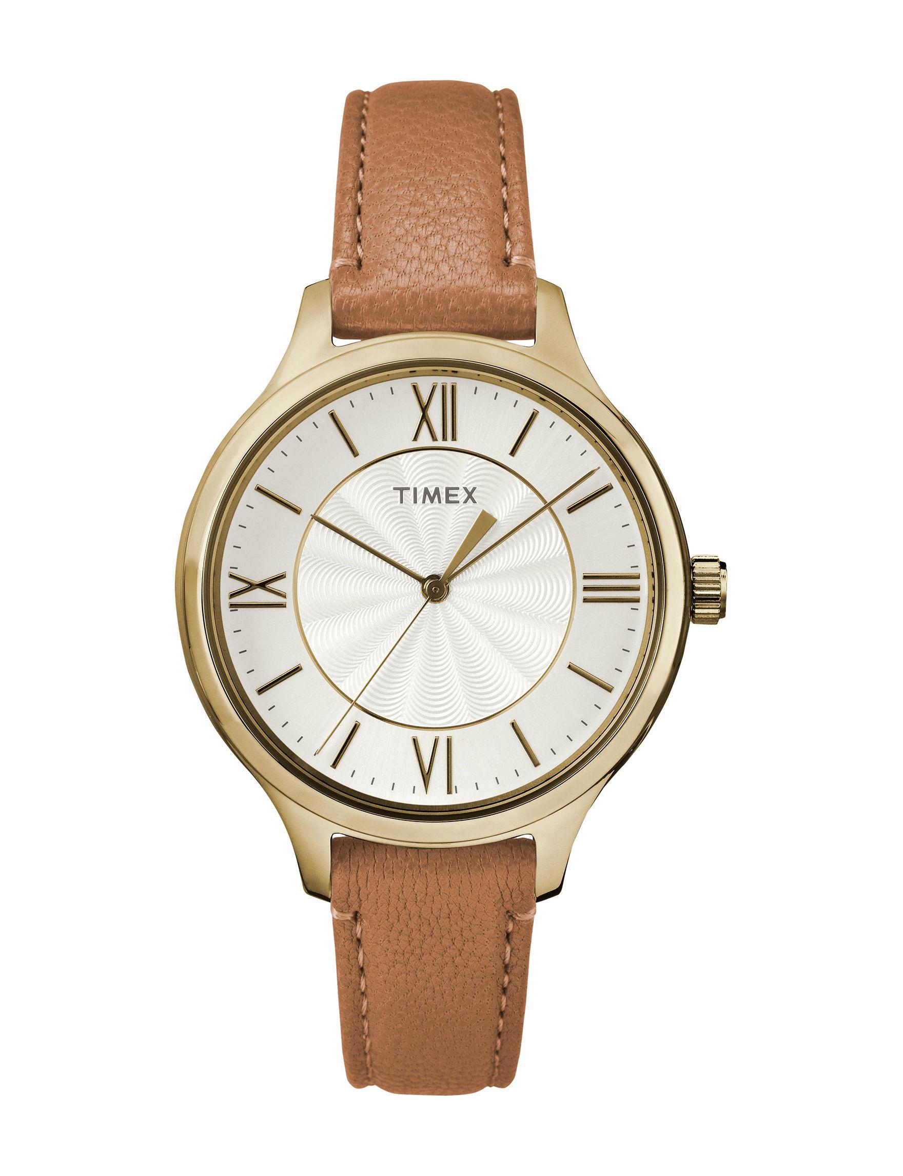 Timex Tan Fashion Watches
