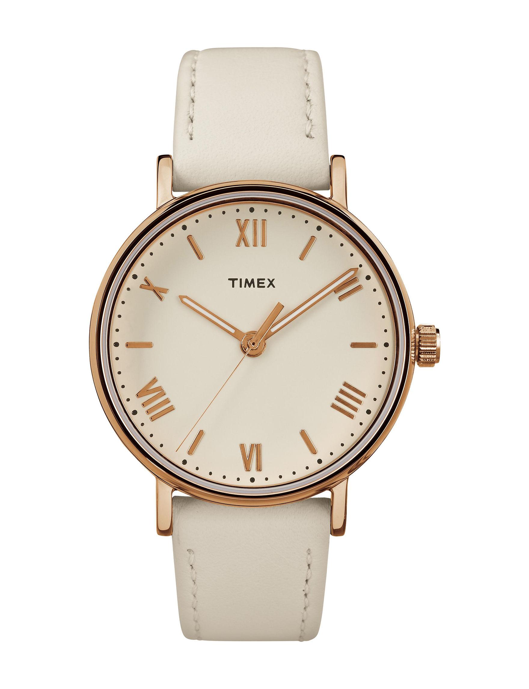 Timex White Fashion Watches