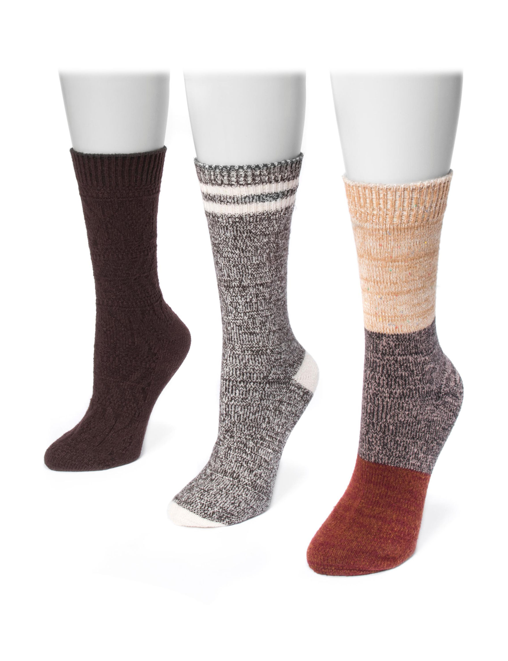 Muk Luks Black Multi Socks