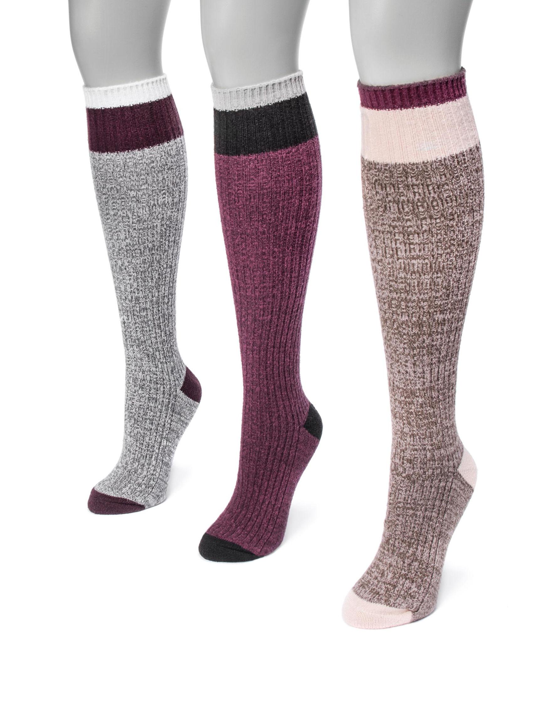 Muk Luks Purple Socks