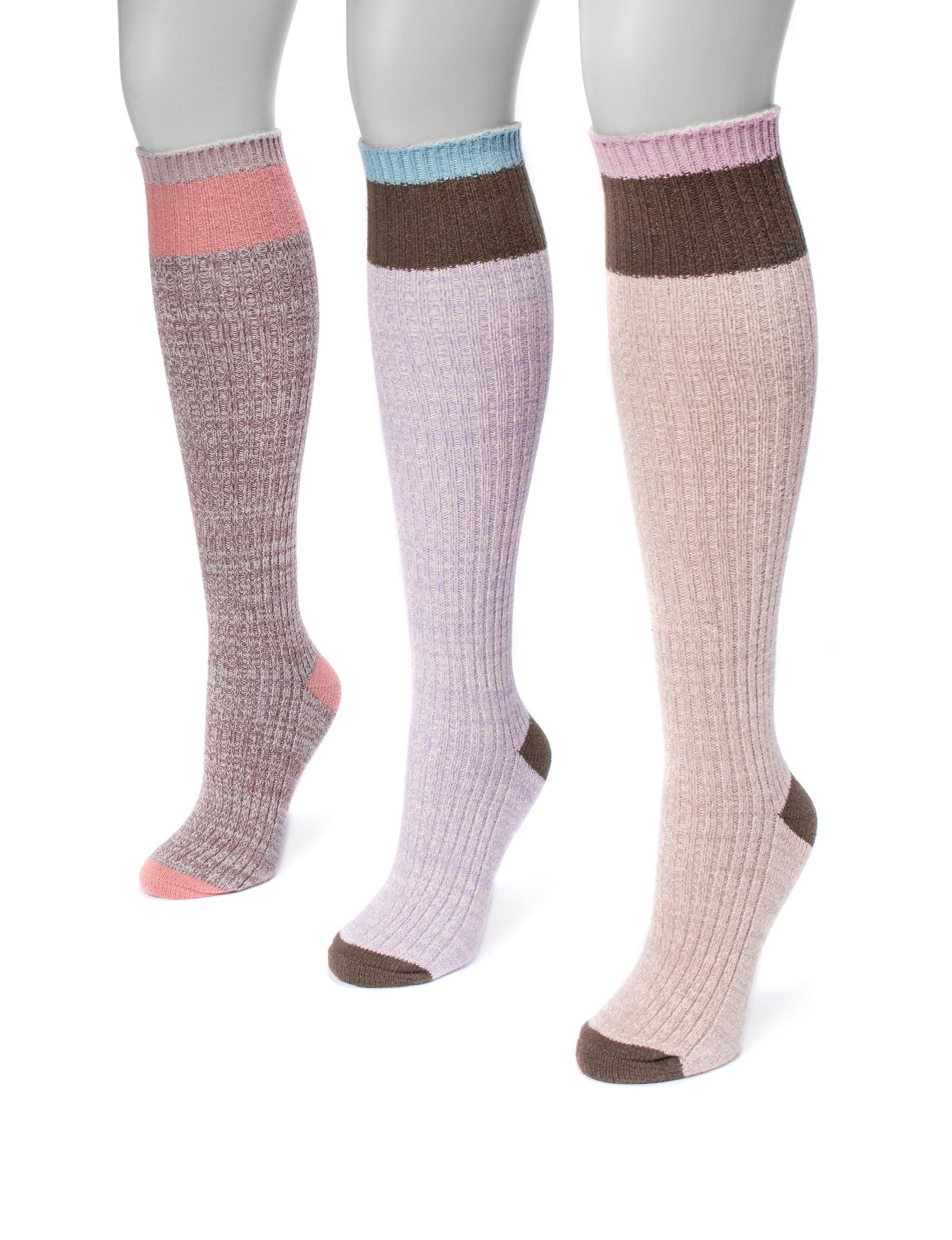 Muk Luks Multi Socks