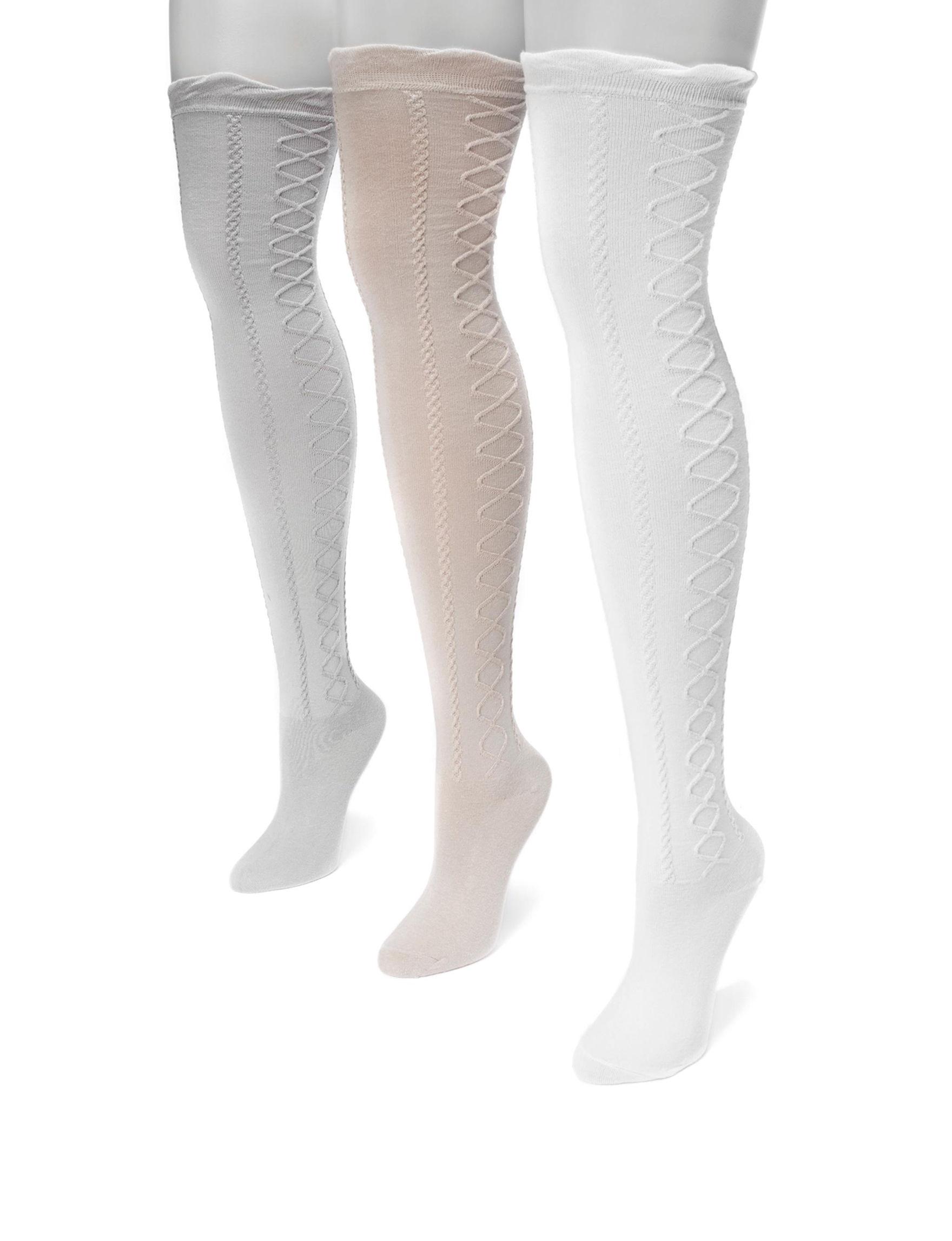 Muk Luks Grey Multi Socks