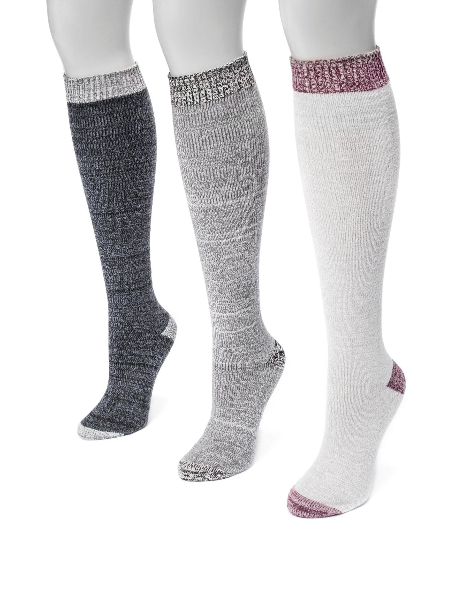 Muk Luks Black Multi Socks