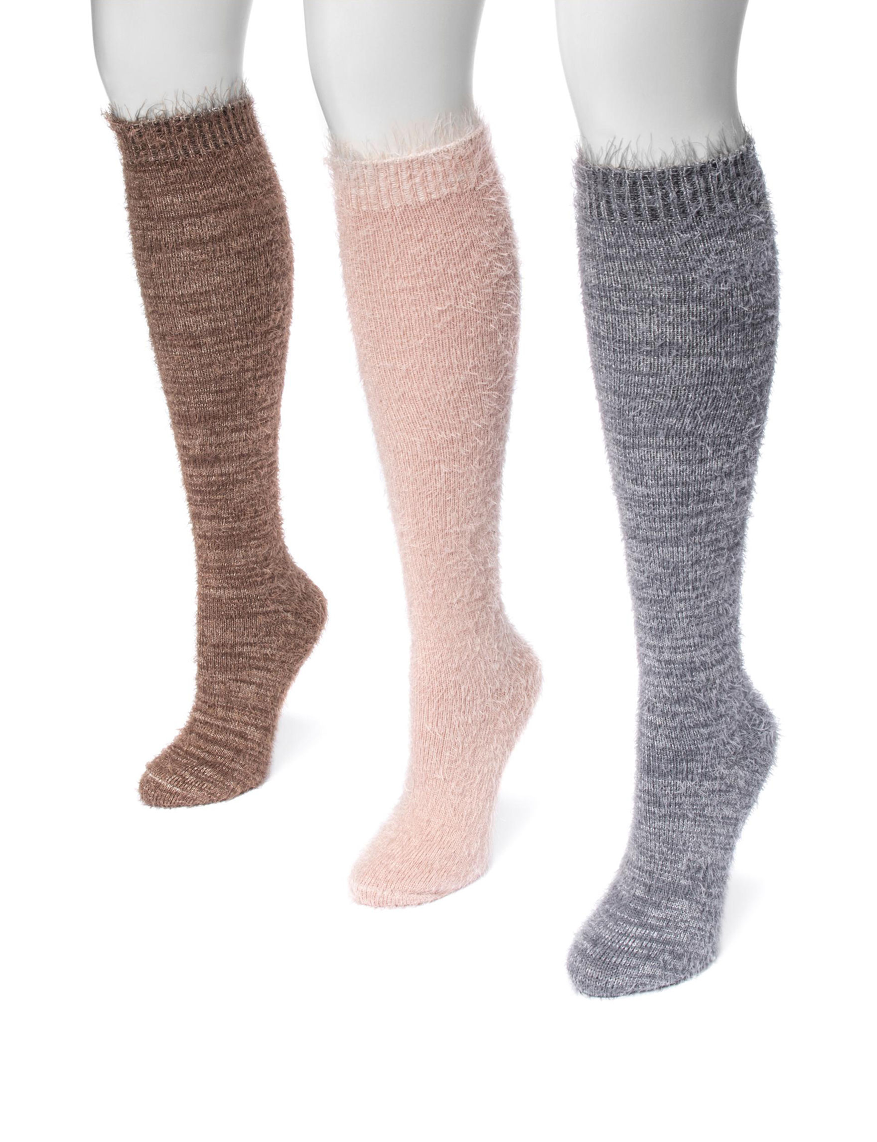 Muk Luks Brown Multi Socks