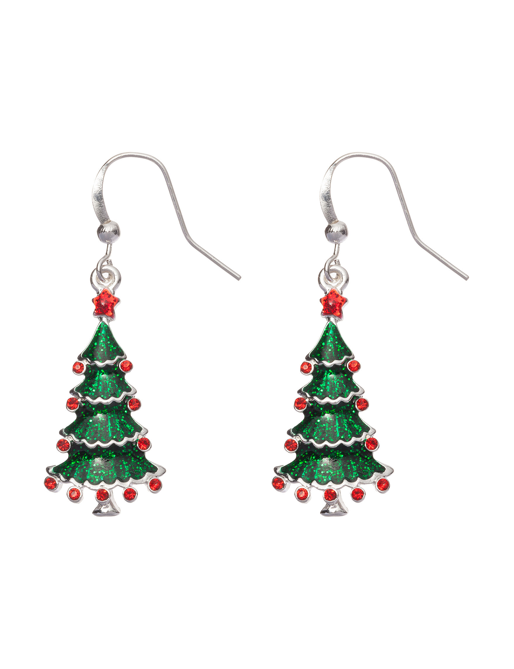 Hannah Christmas Tree Drop Earrings | Stage Stores