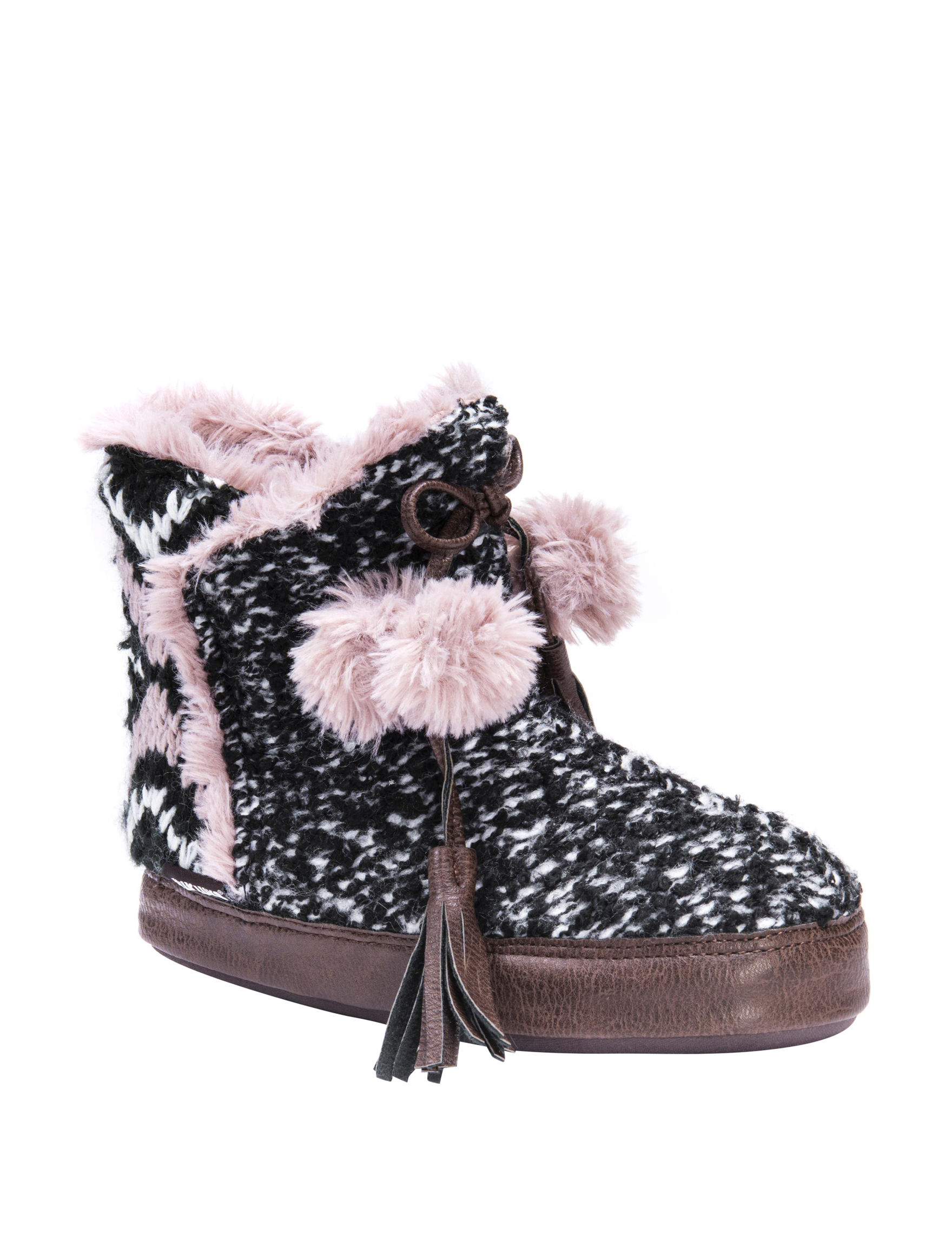 Muk Luks Black Slipper Boots & Booties