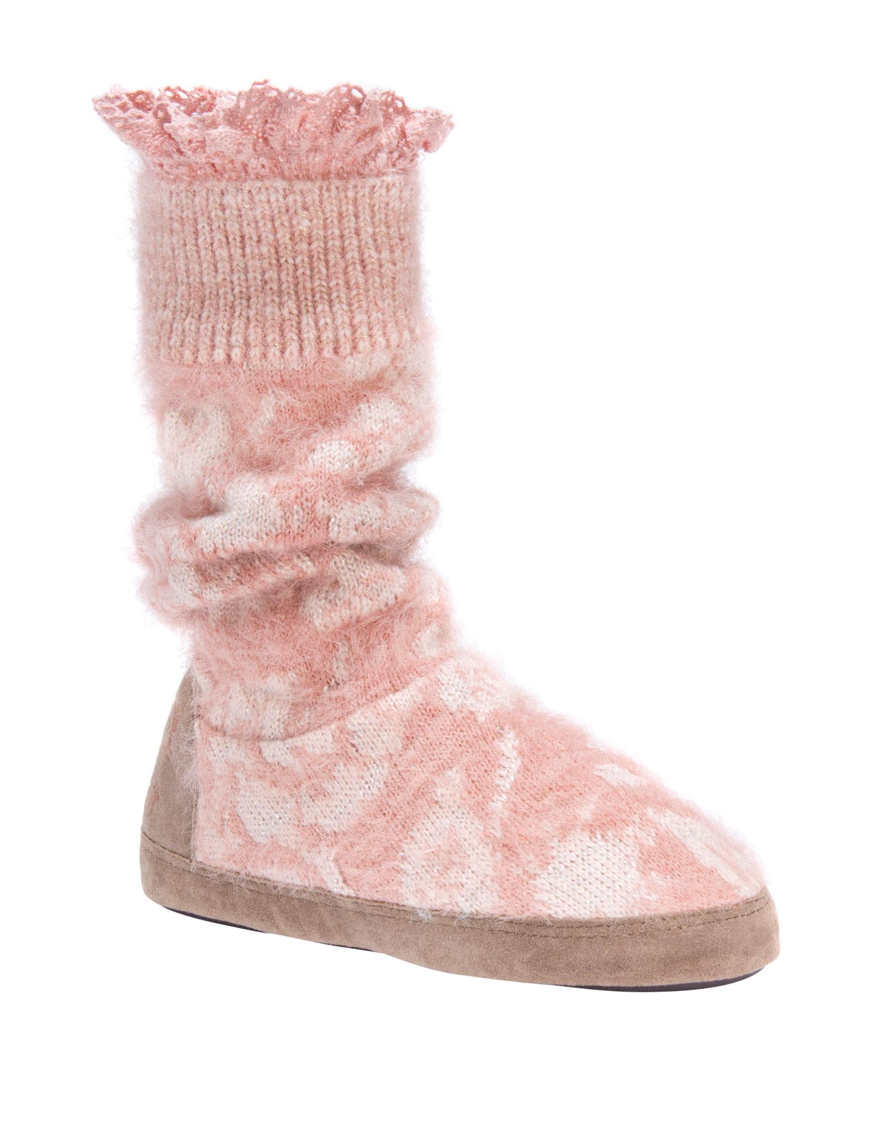 Muk Luks Rose Gold Slipper Boots & Booties