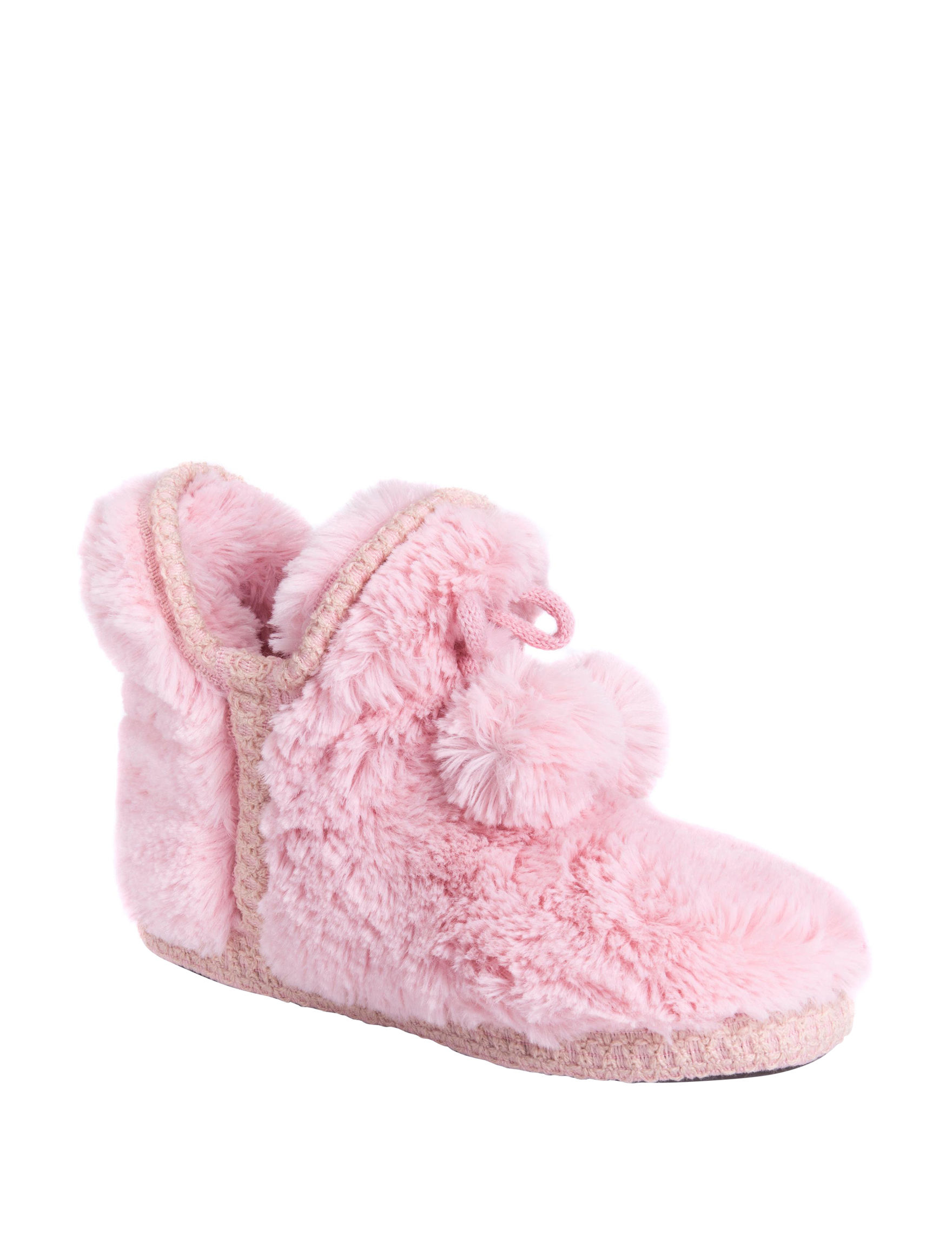 Muk Luks Pink Slipper Boots & Booties
