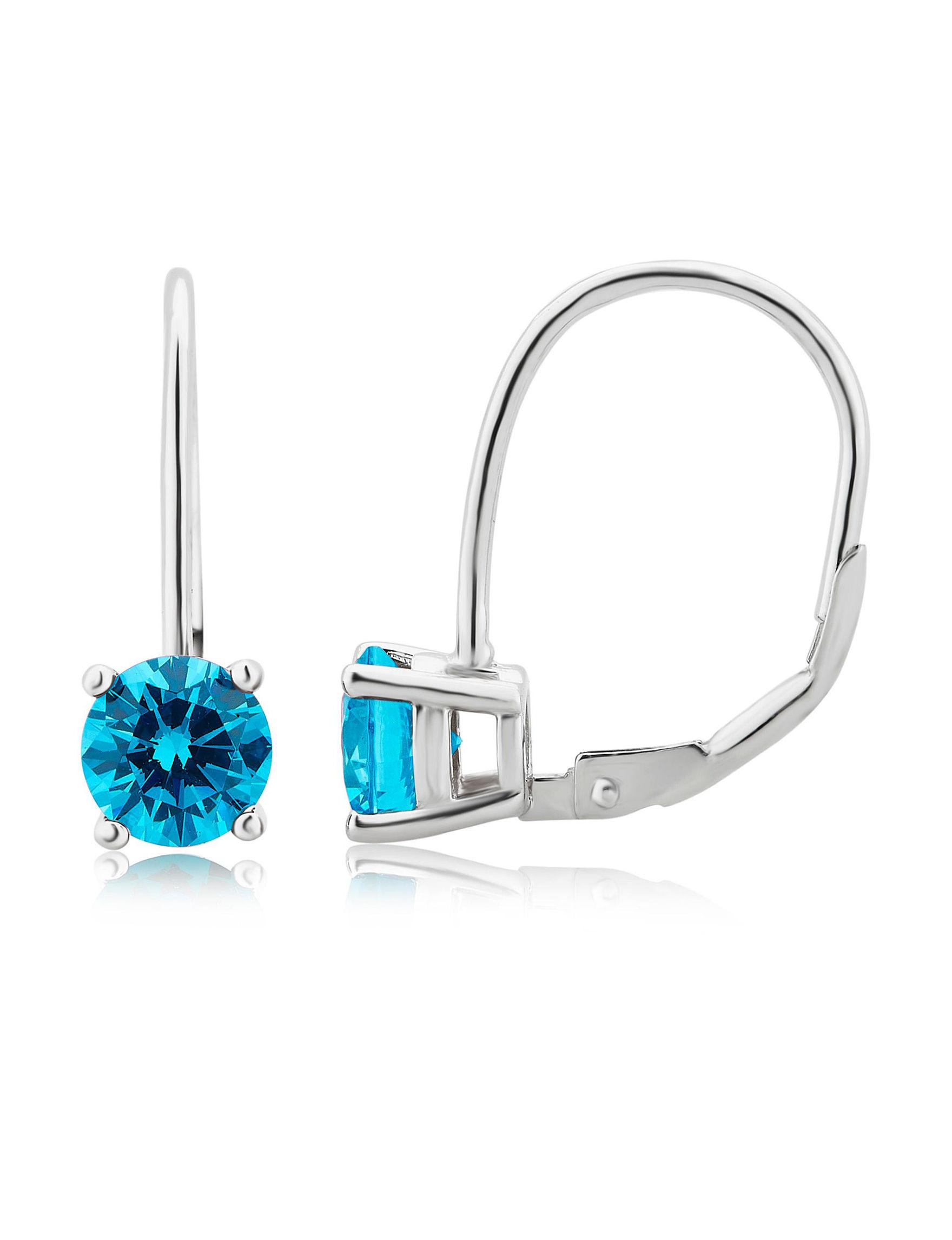 Turquoise Hoops Earrings Fine Jewelry