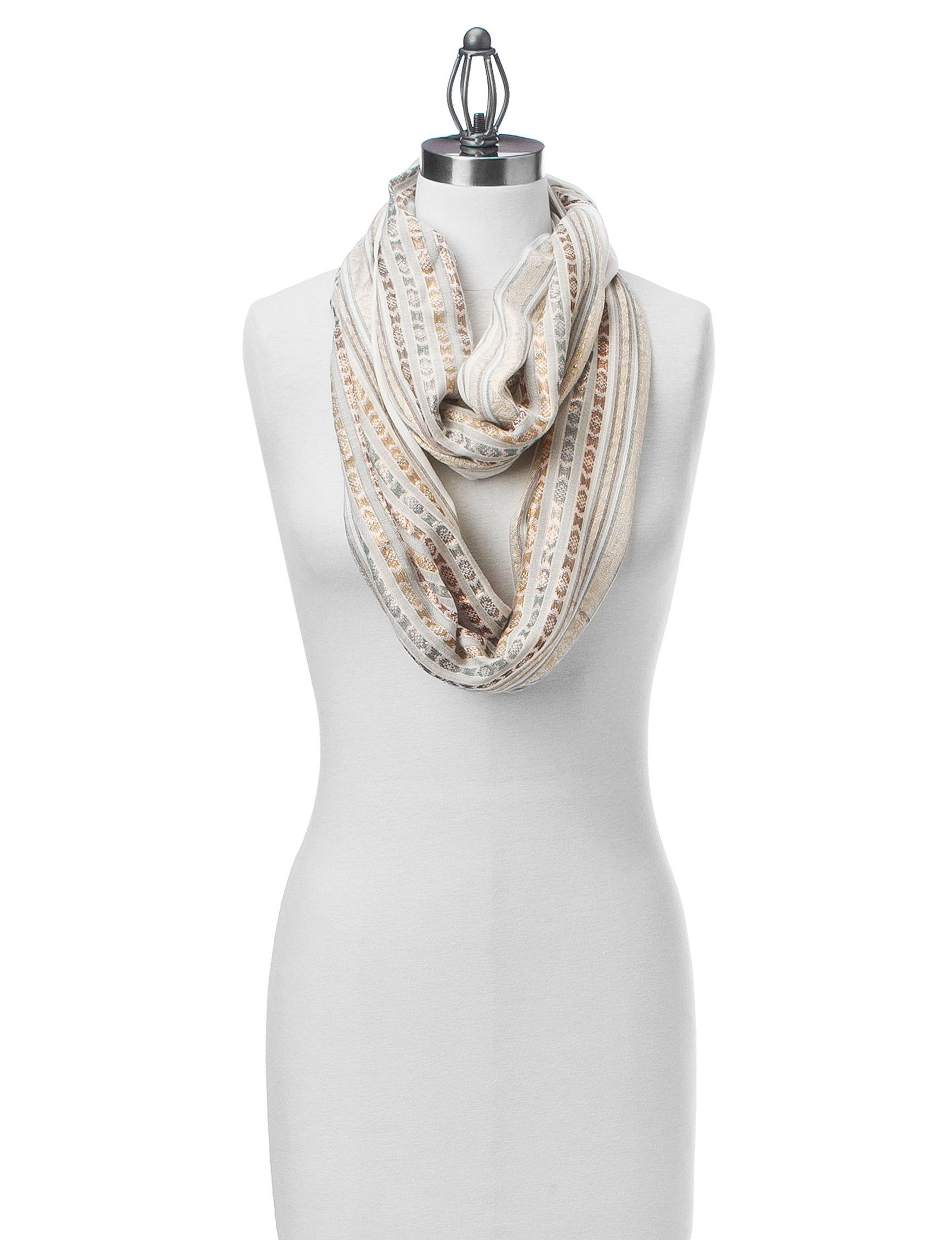 Basha Ivory Scarves & Wraps Infinity & Loops