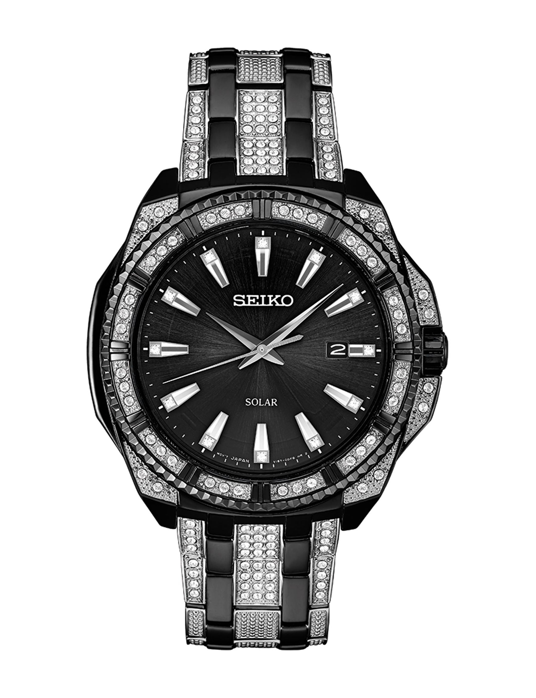 Seiko Silver / Black Fashion Watches Accessories