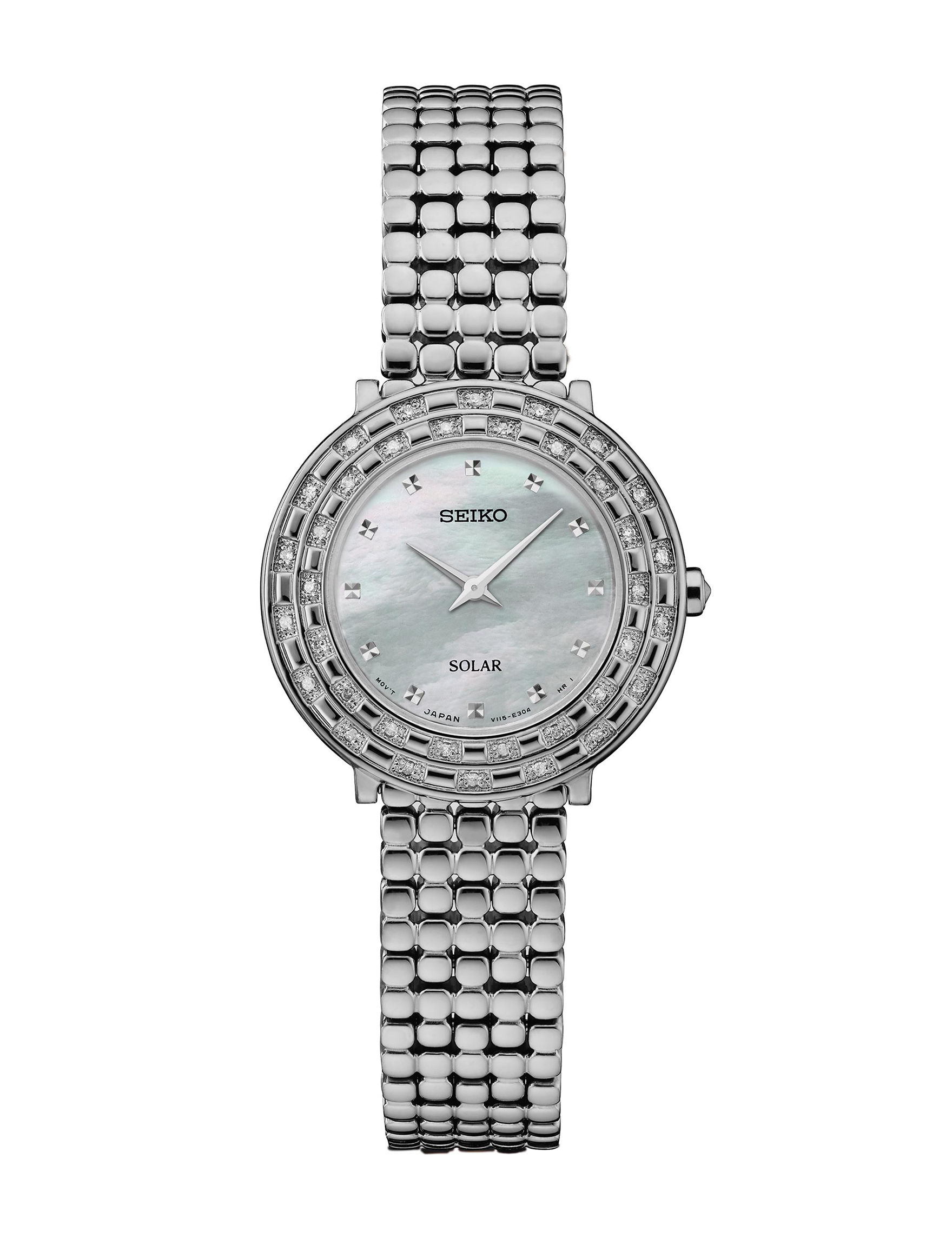 Seiko Silver Fashion Watches Accessories