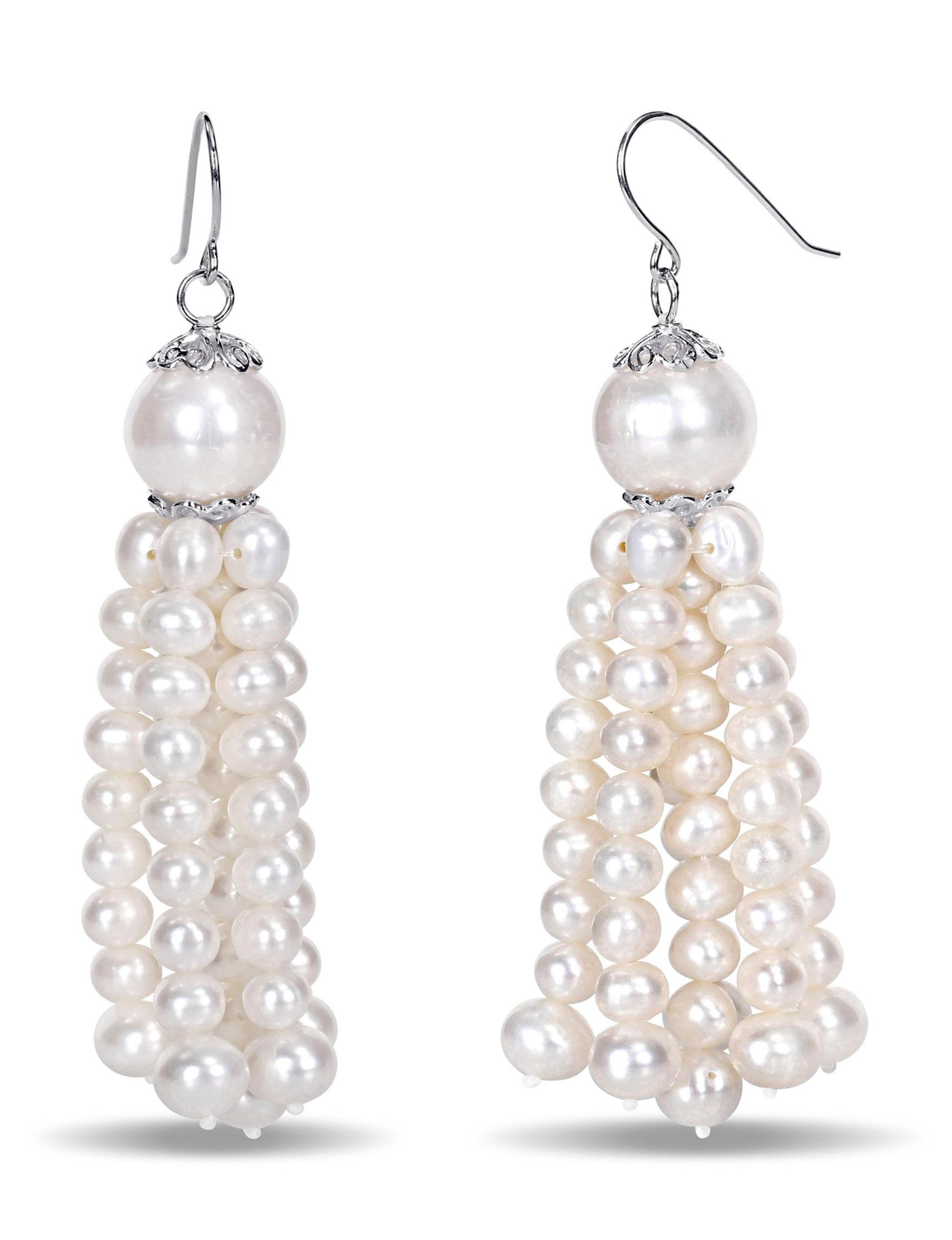Michiko Silver Hoops Earrings Fine Jewelry