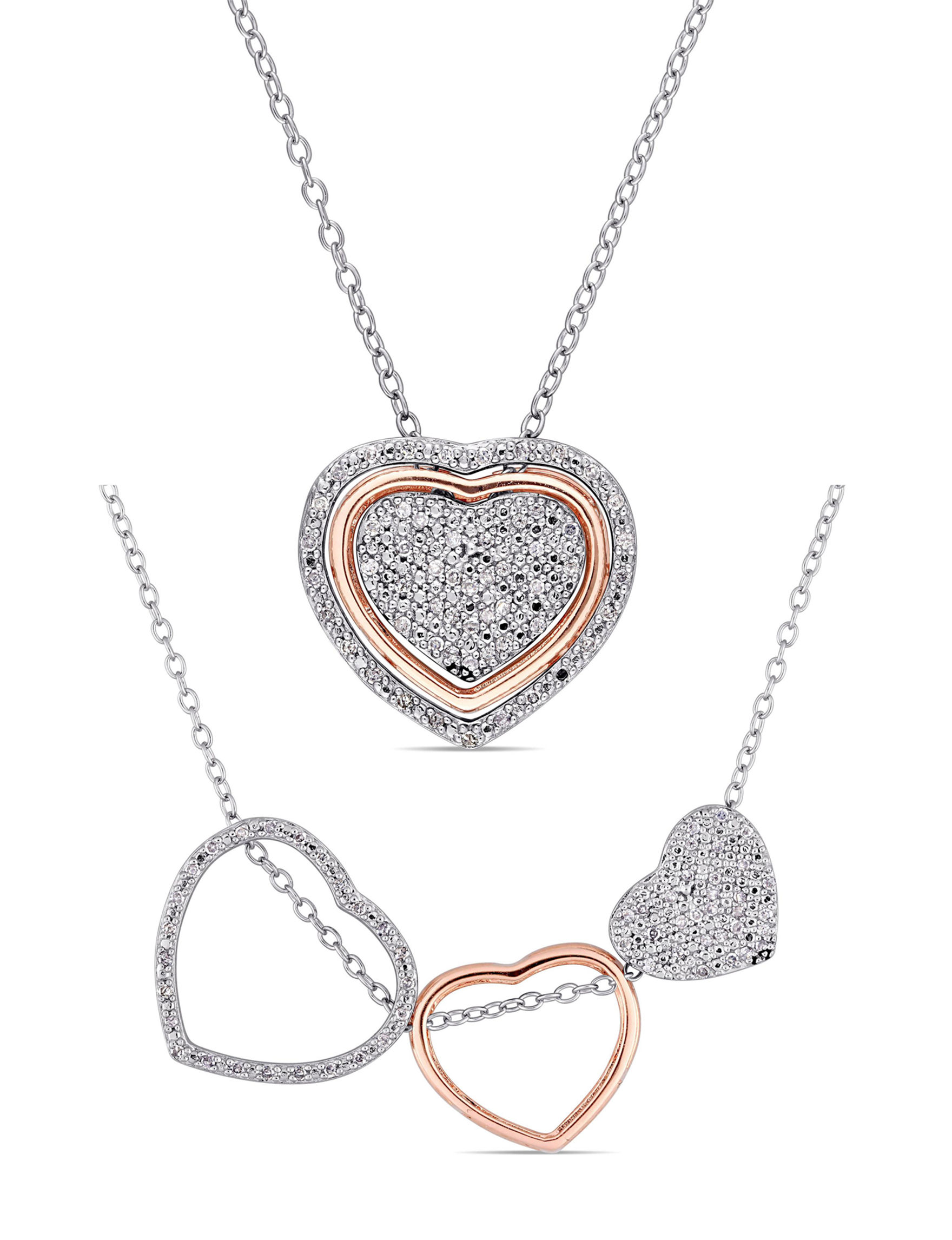 Amour Collection Rose Gold Necklaces & Pendants Fine Jewelry