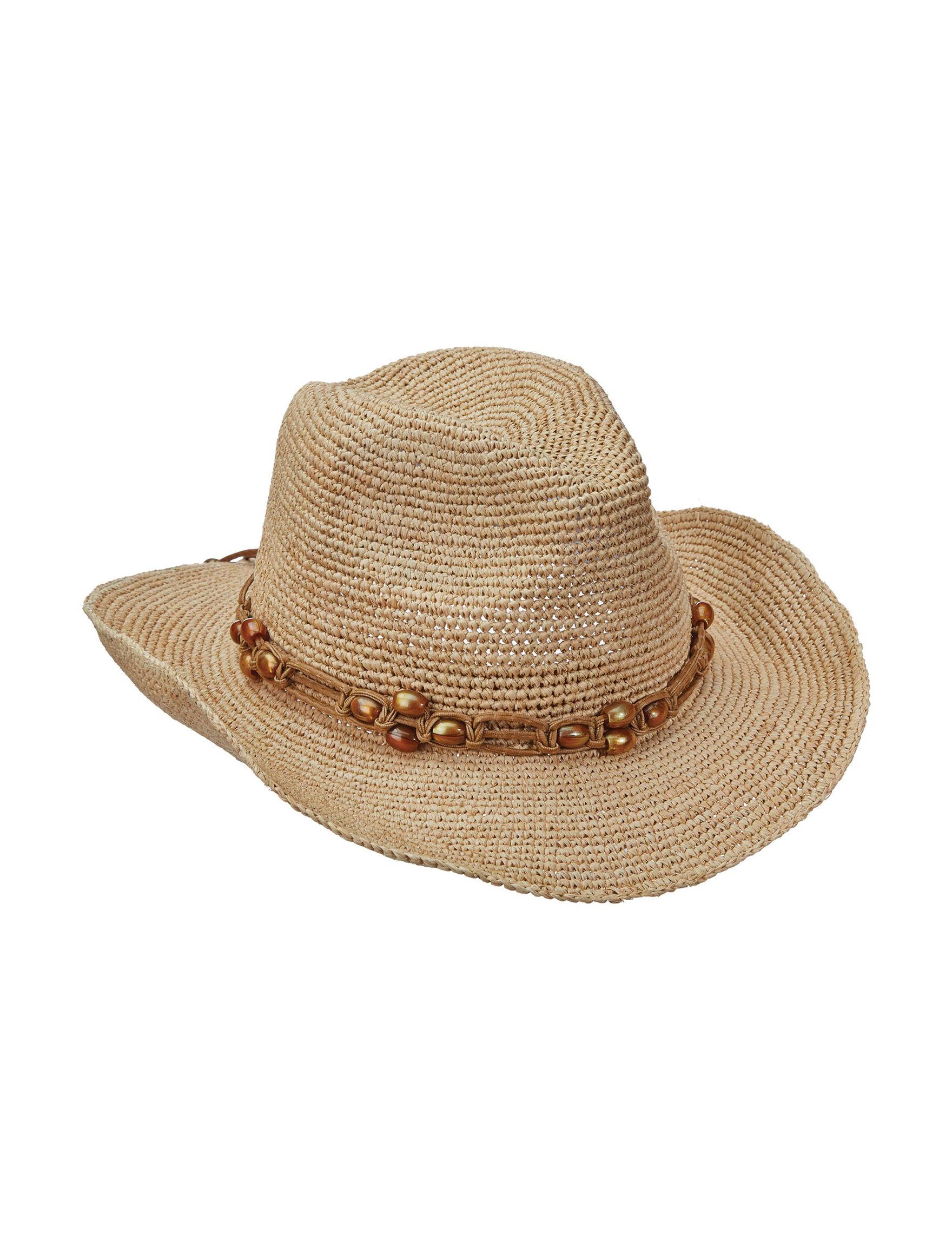 Scala Natural Hats & Headwear