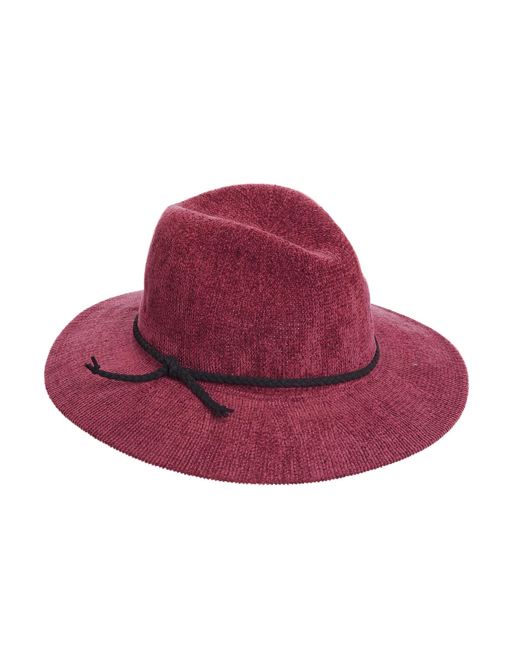Scala Burgundy Hats & Headwear