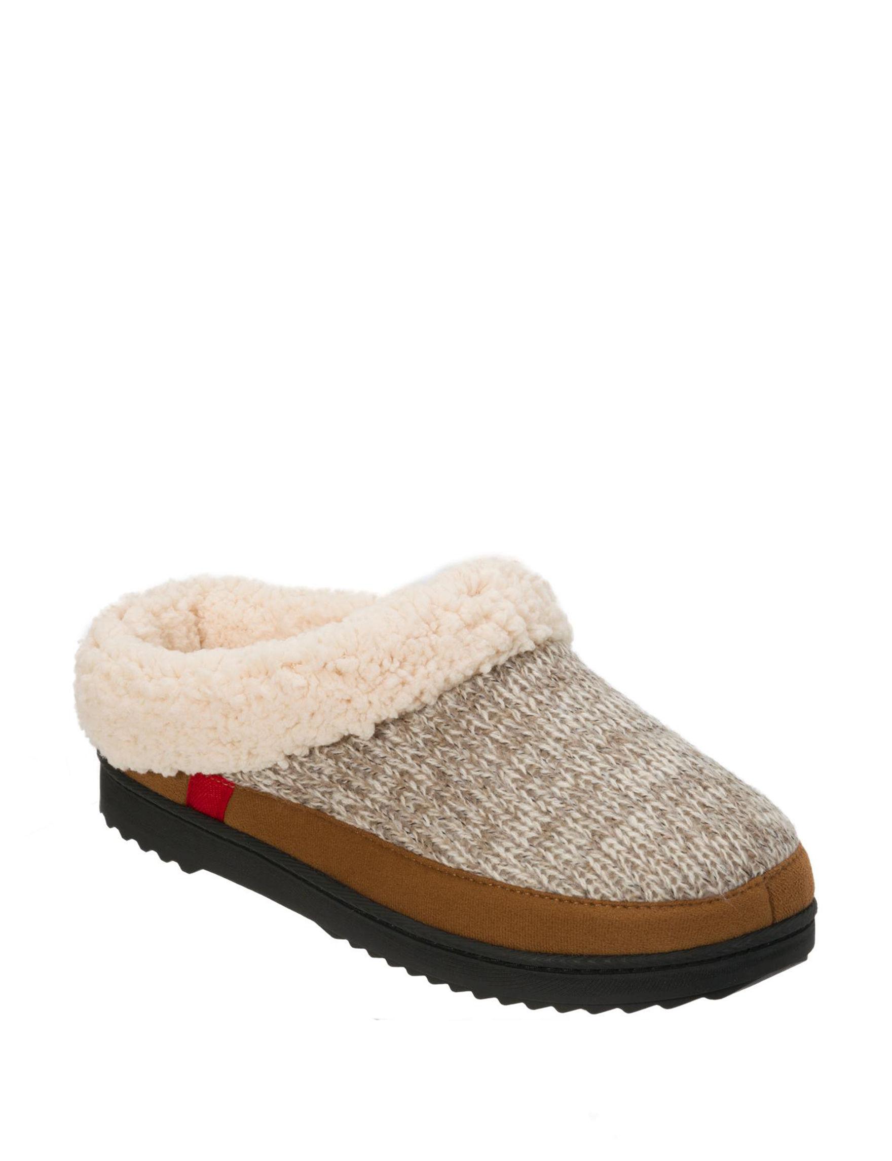 Dearfoams Natural Slipper Shoes