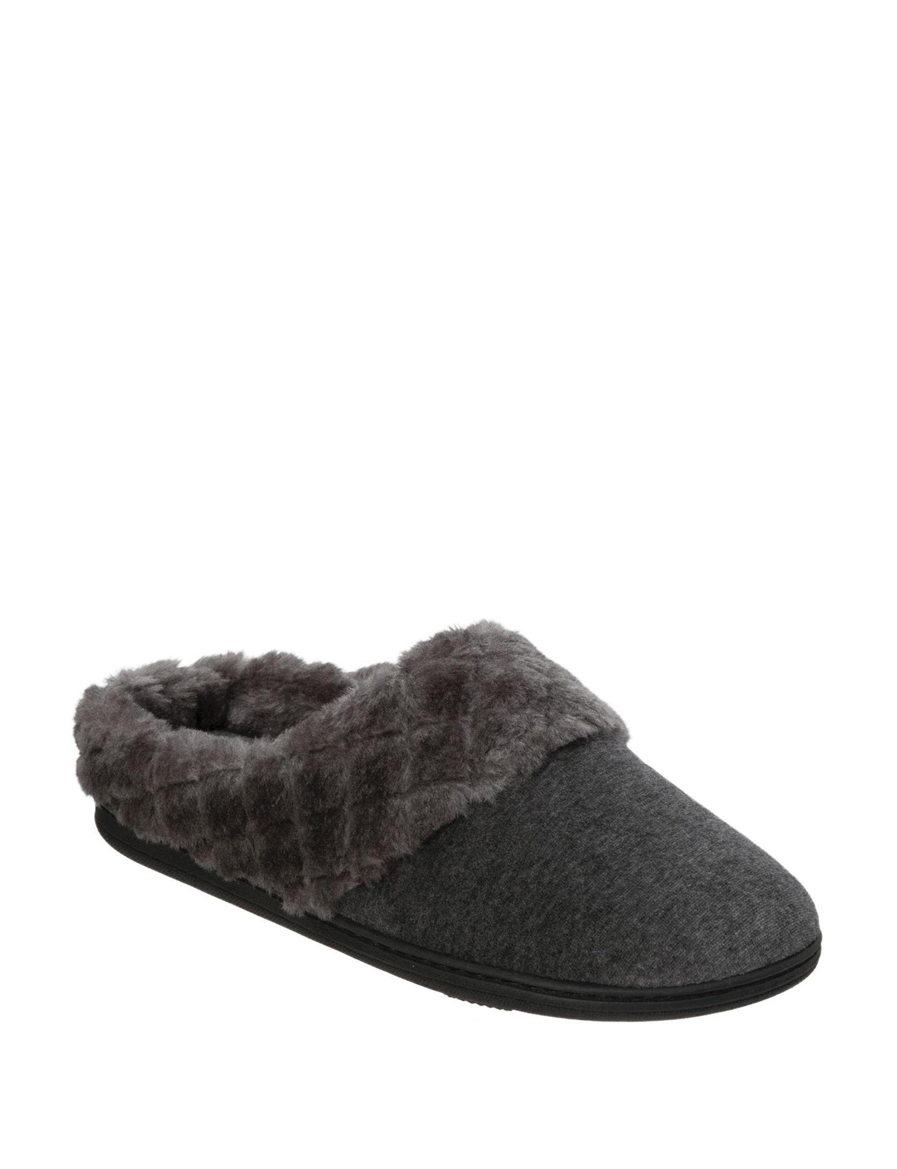 Dearfoams Dark Grey Slipper Shoes