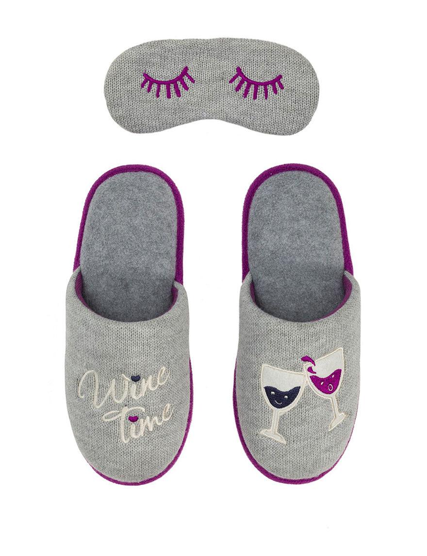 Dearfoams Light Grey Slipper Shoes
