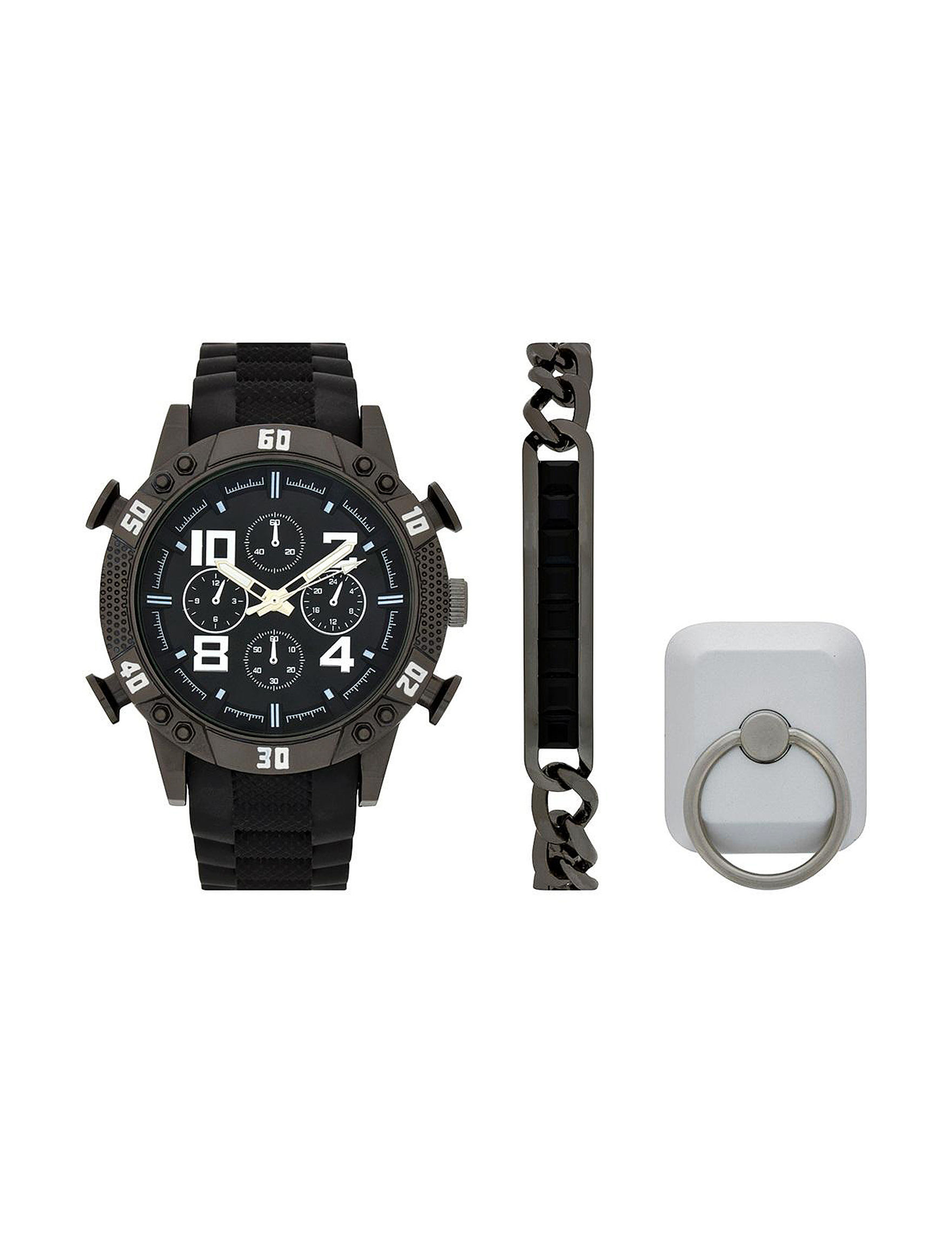 Accutime Gunmetal Fashion Watches