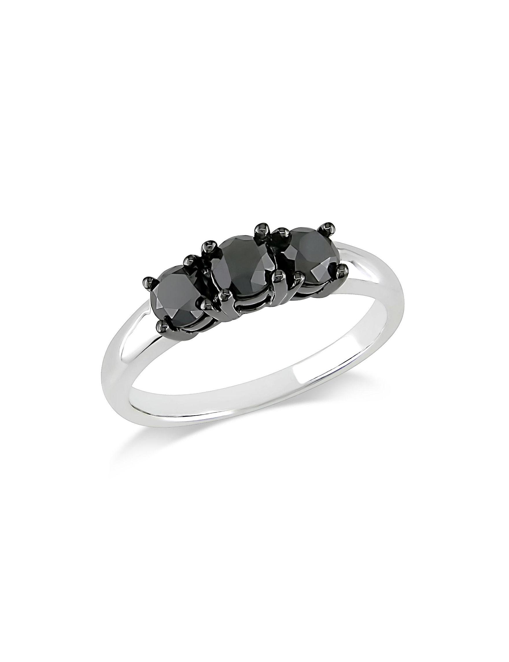 Moonlight Diamonds White Gold Rings Fine Jewelry