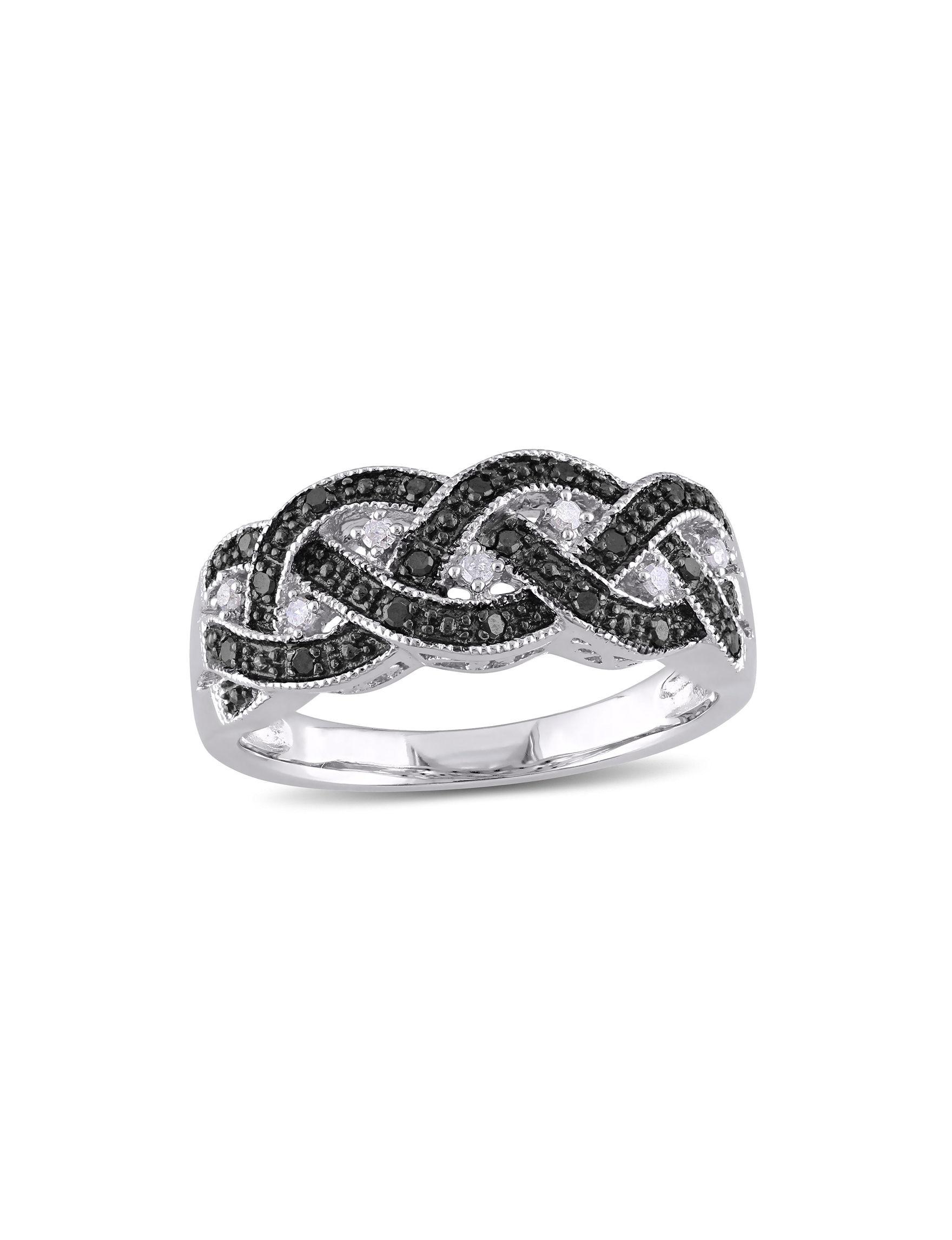 Moonlight Diamonds Silver Rings Fine Jewelry