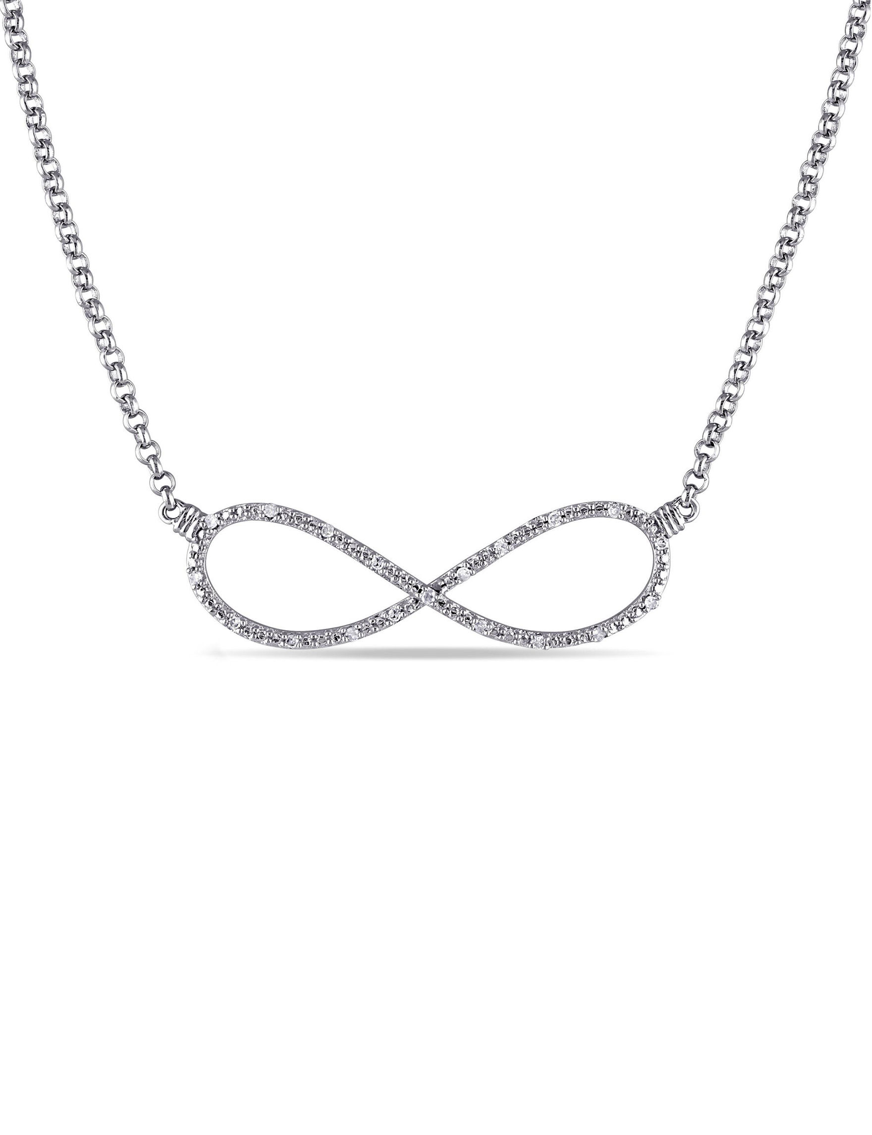 Amour Collection Silver Necklaces & Pendants Fine Jewelry