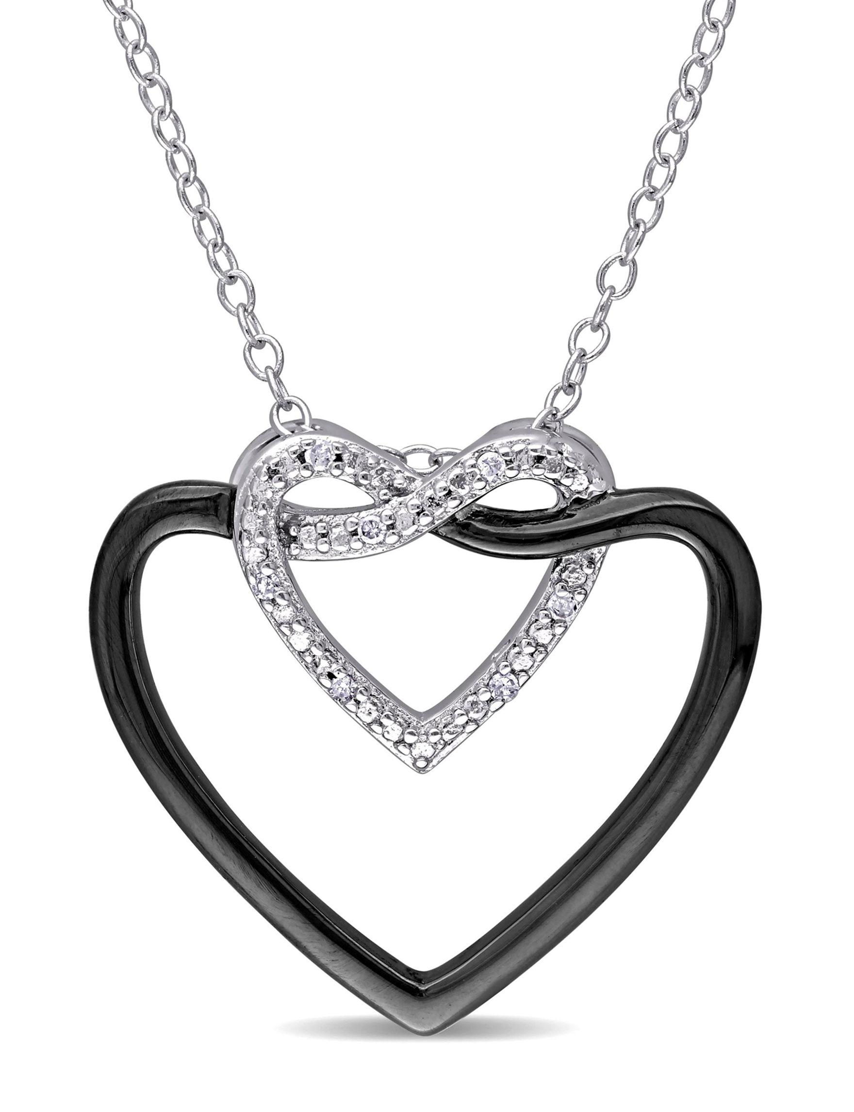 Concerto Diamonds Silver Necklaces & Pendants Fine Jewelry