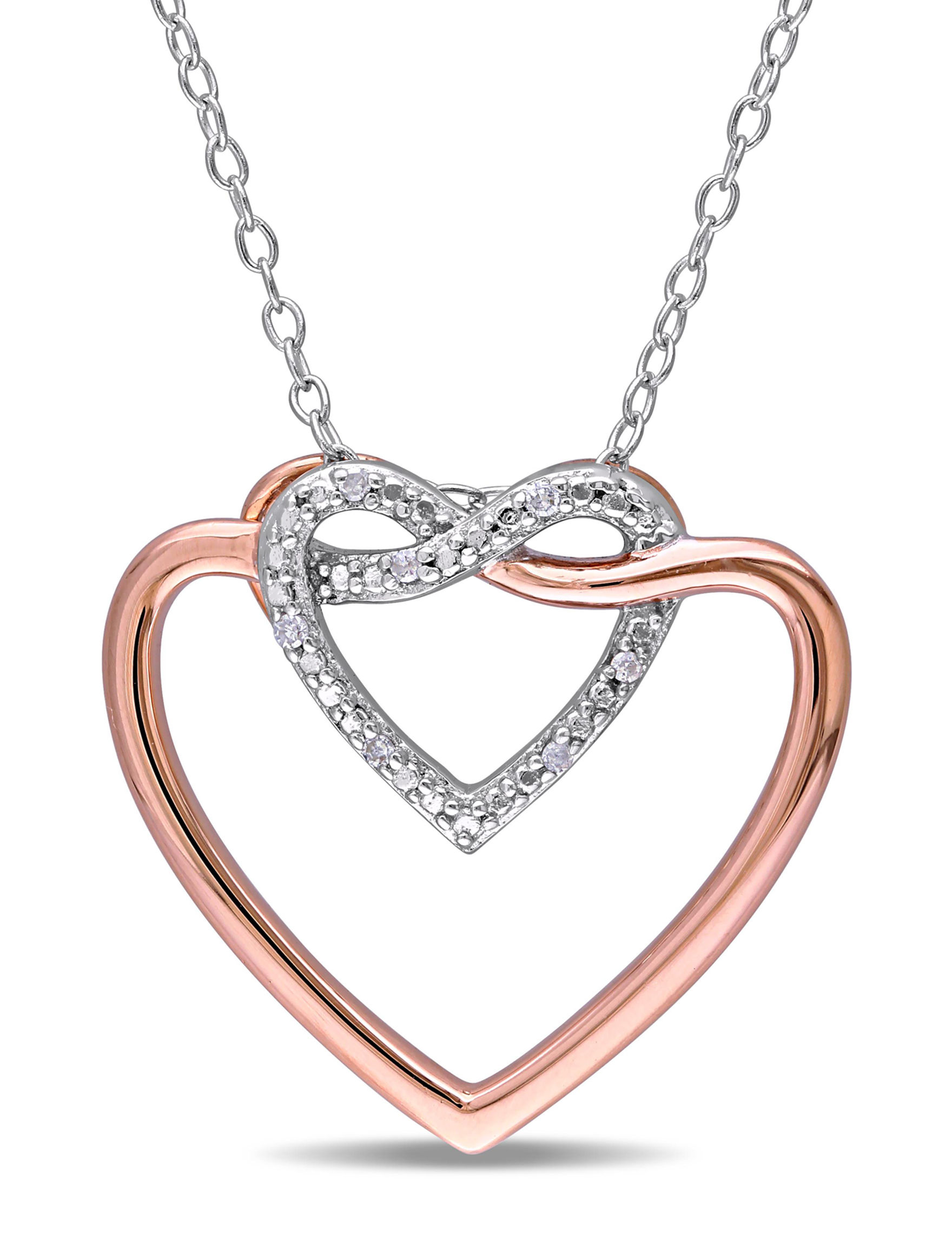 Amour Collection Two Tone Necklaces & Pendants Fine Jewelry