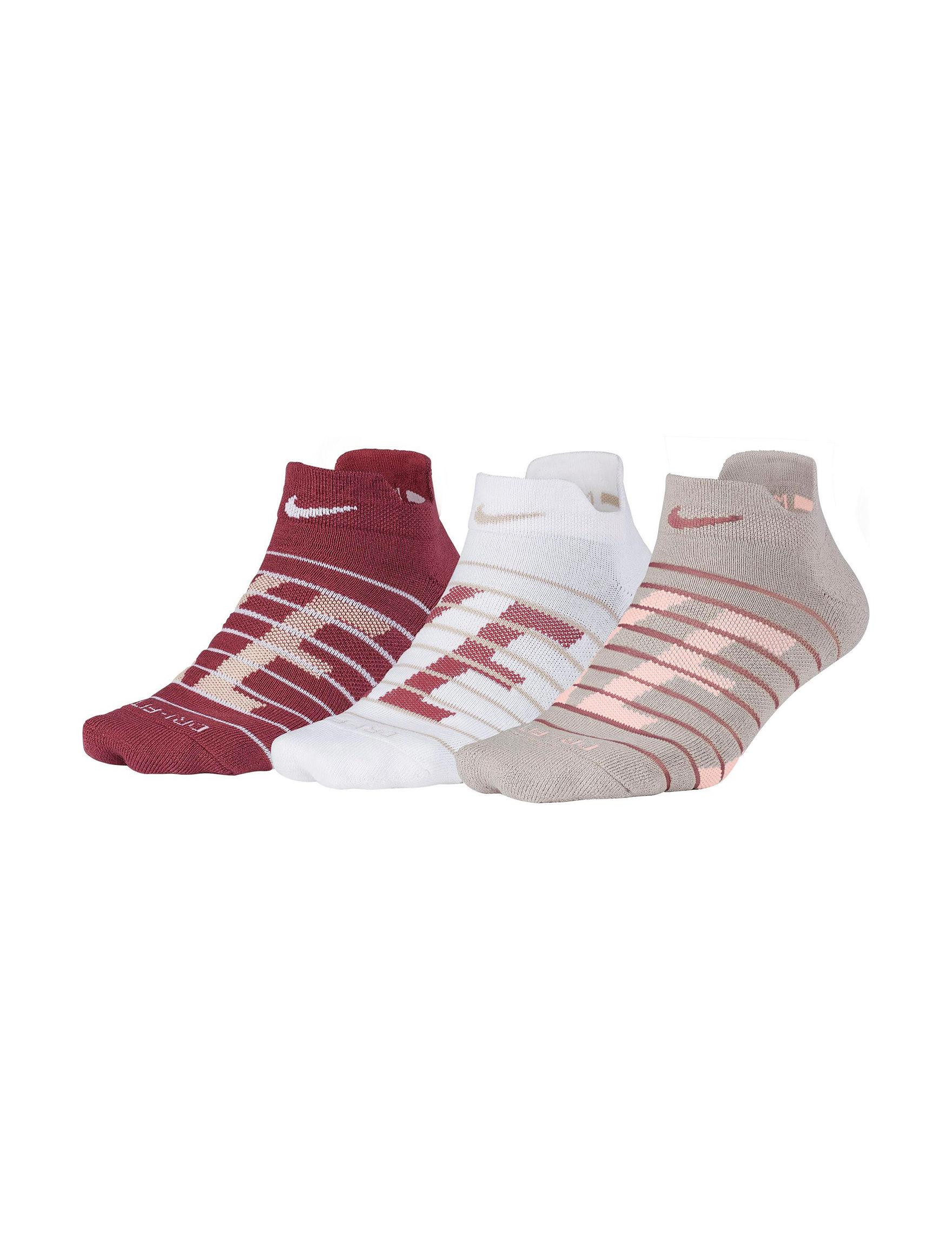Nike Red Multi Socks