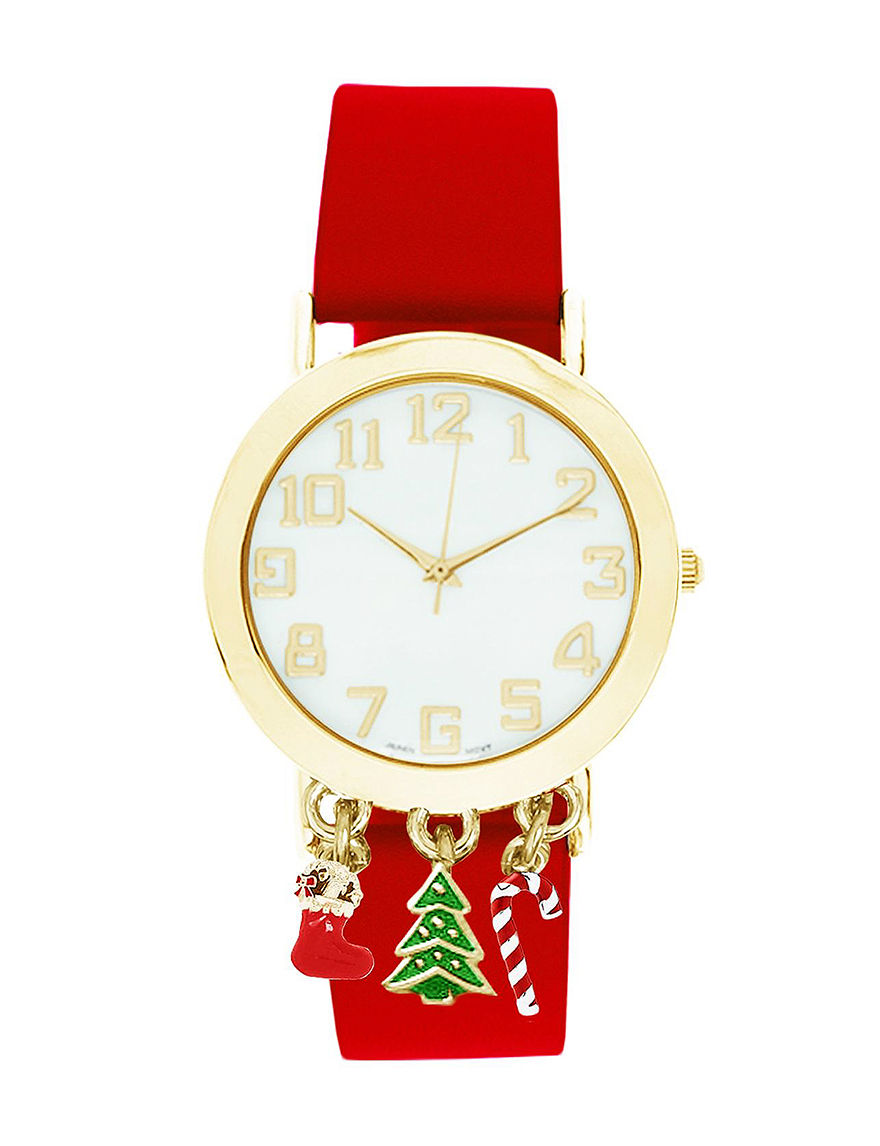 Global Time Red Fashion Watches
