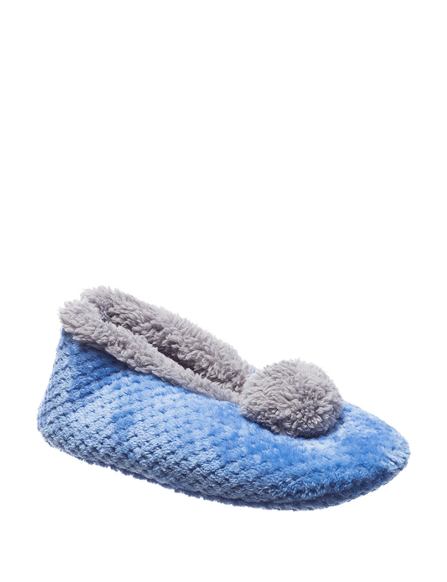 Hanes Blue Slipper Socks