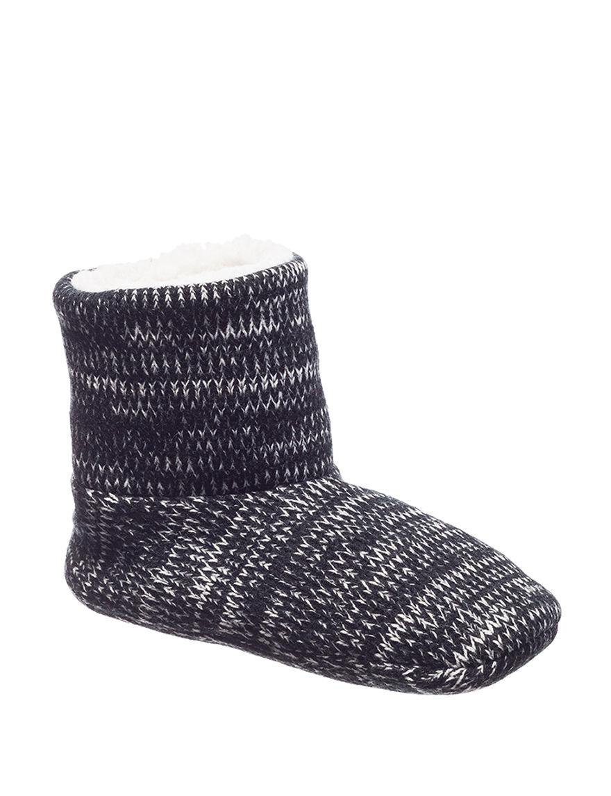 Hanes Black Slipper Boots & Booties