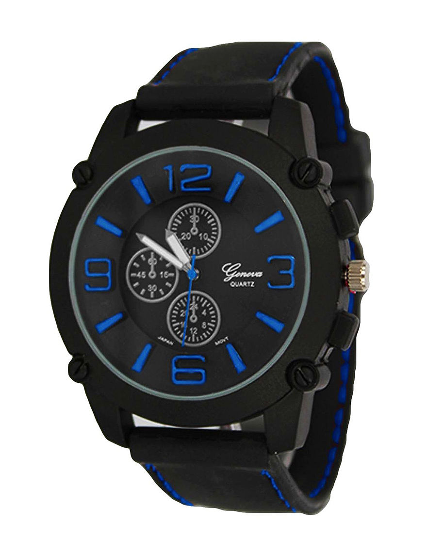 Global Time Black Sport Watches