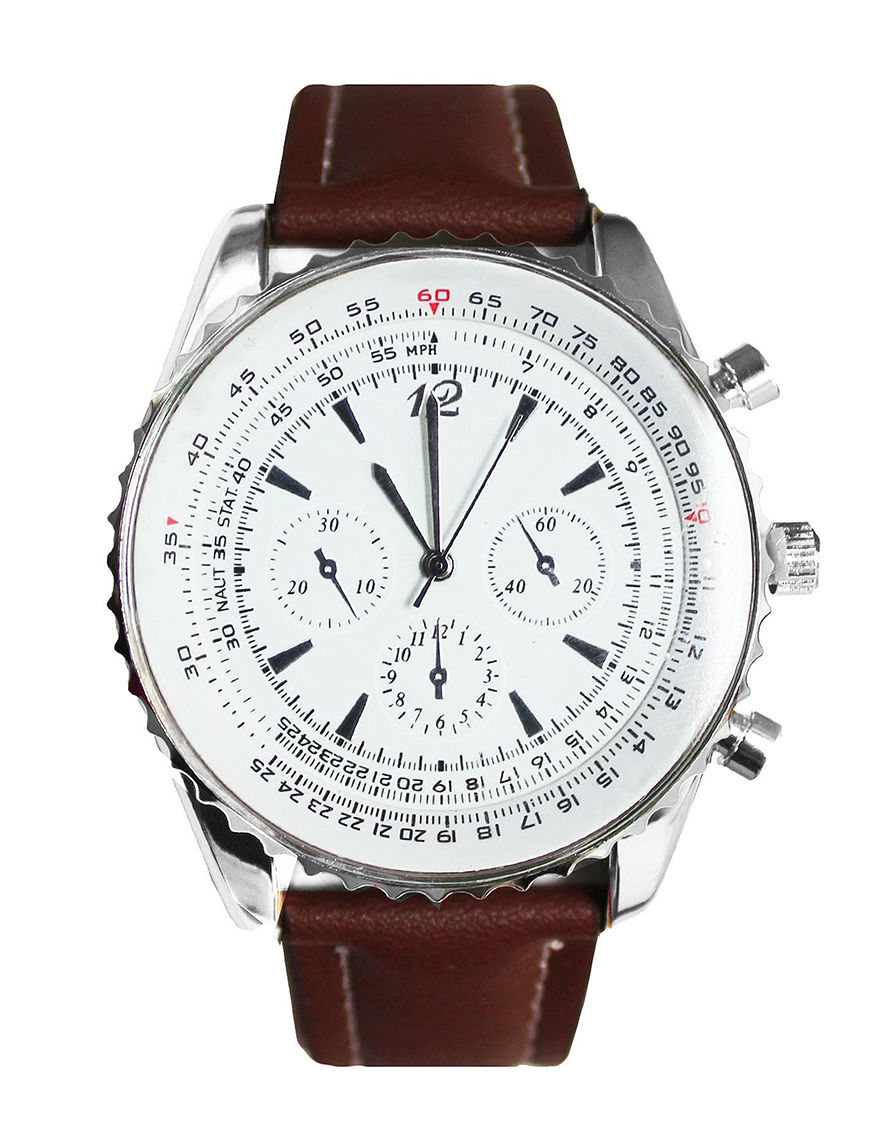 Global Time Brown Sport Watches