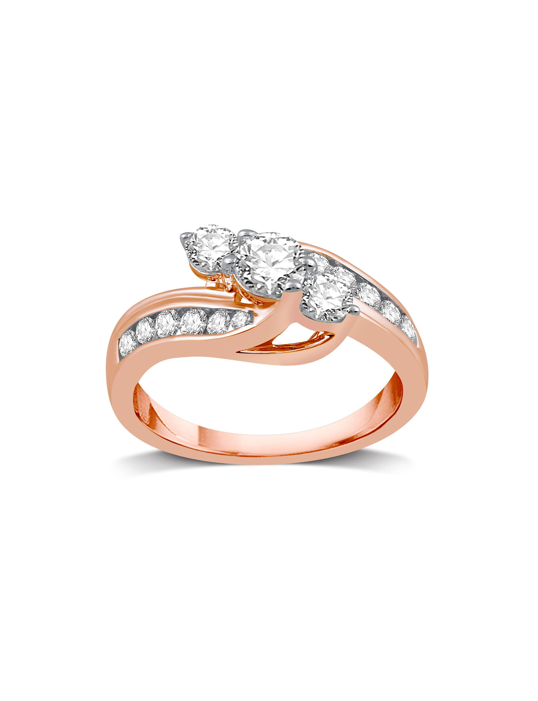 DeCarat Rose Gold Rings Fine Jewelry