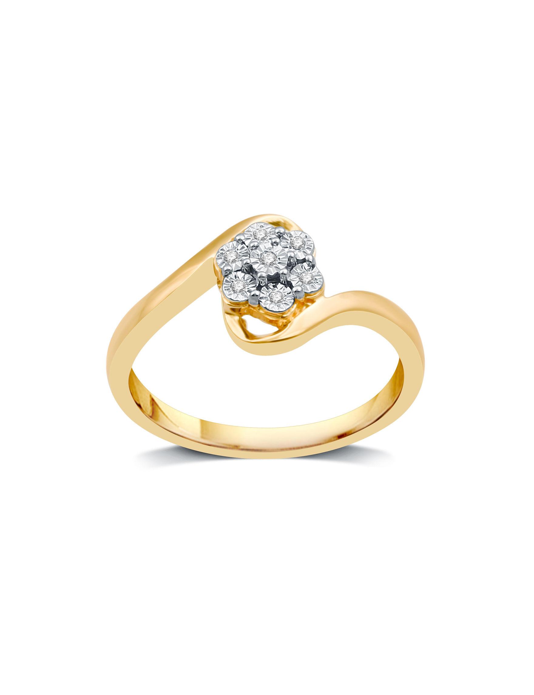 DeCarat Gold Rings Fine Jewelry