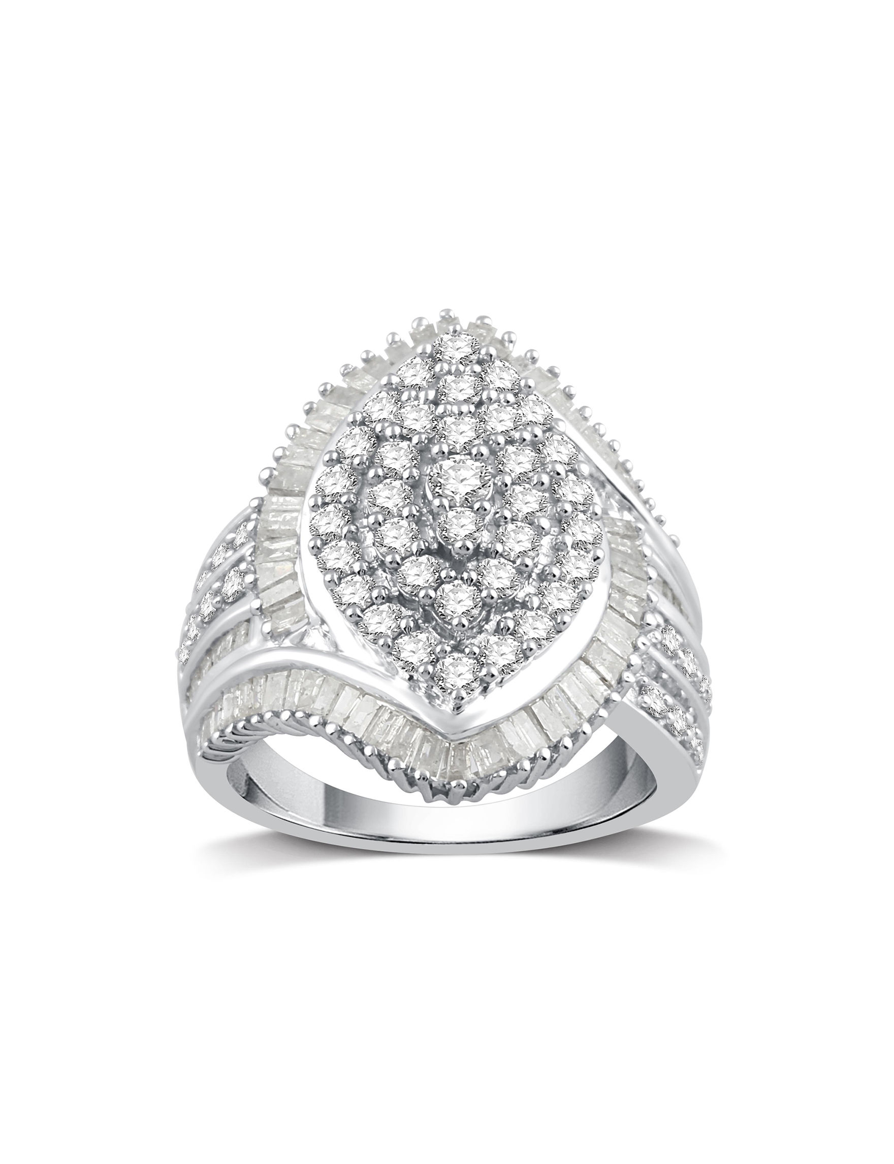 DeCarat White Gold Rings Fine Jewelry