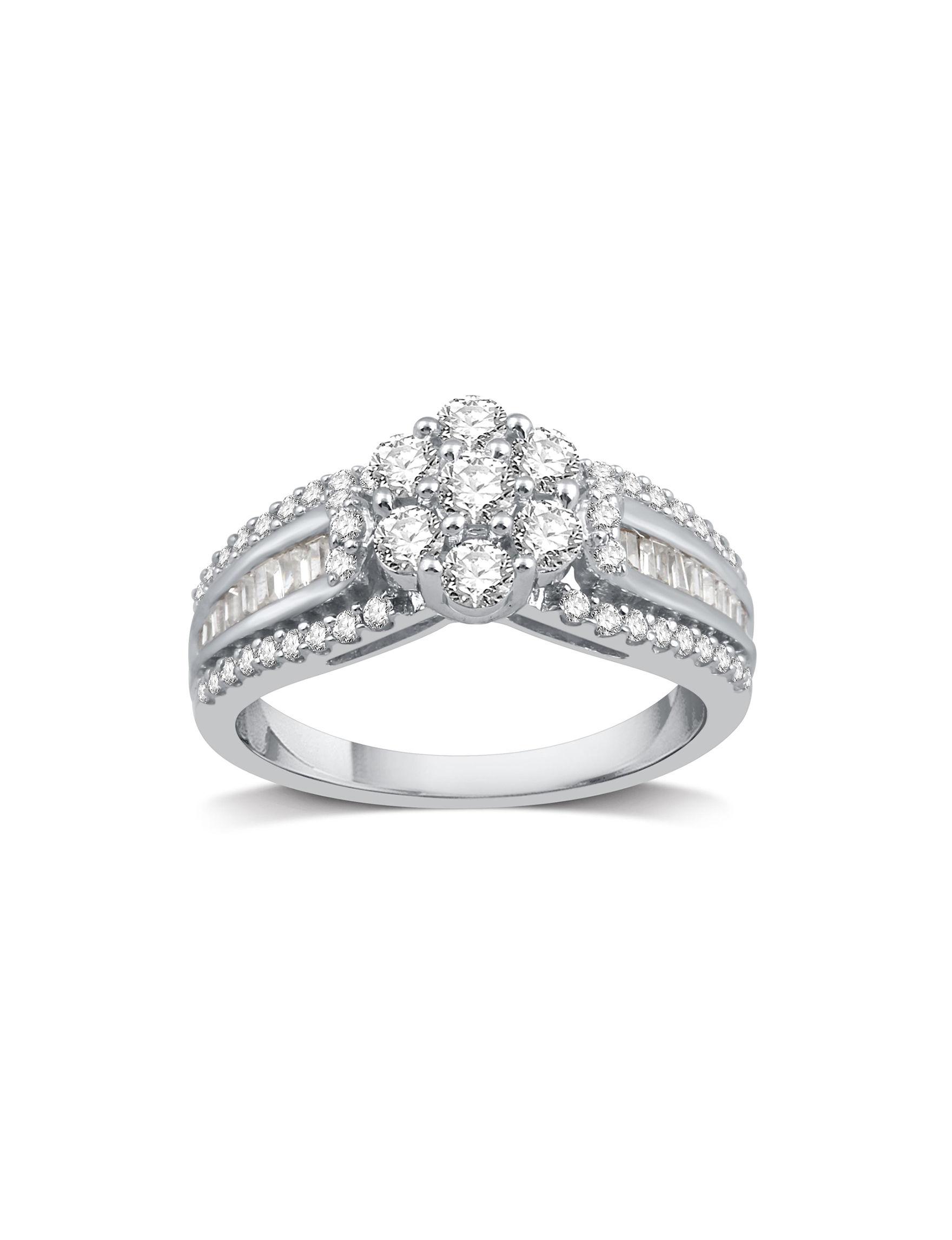 DeCarat Silver Rings Fine Jewelry