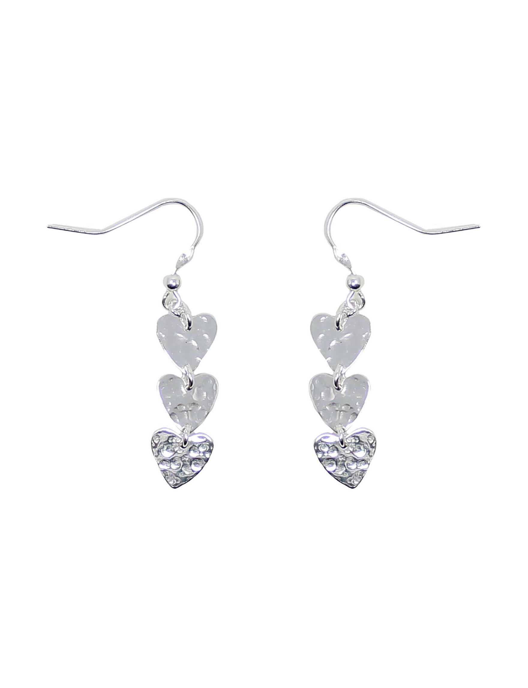 L & J Silver Drops Earrings Fine Jewelry