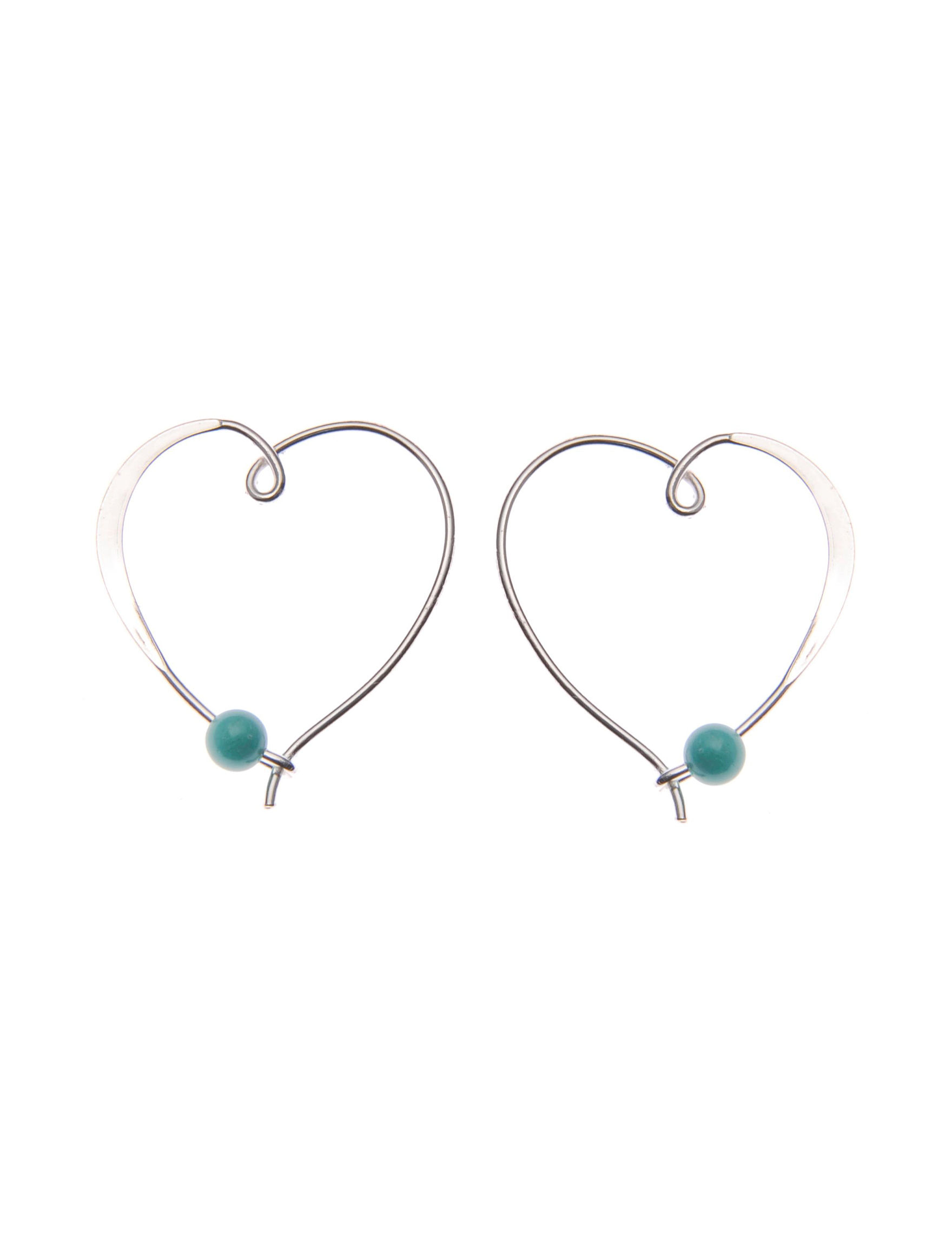 L & J White / Silver Hoops Earrings Fine Jewelry