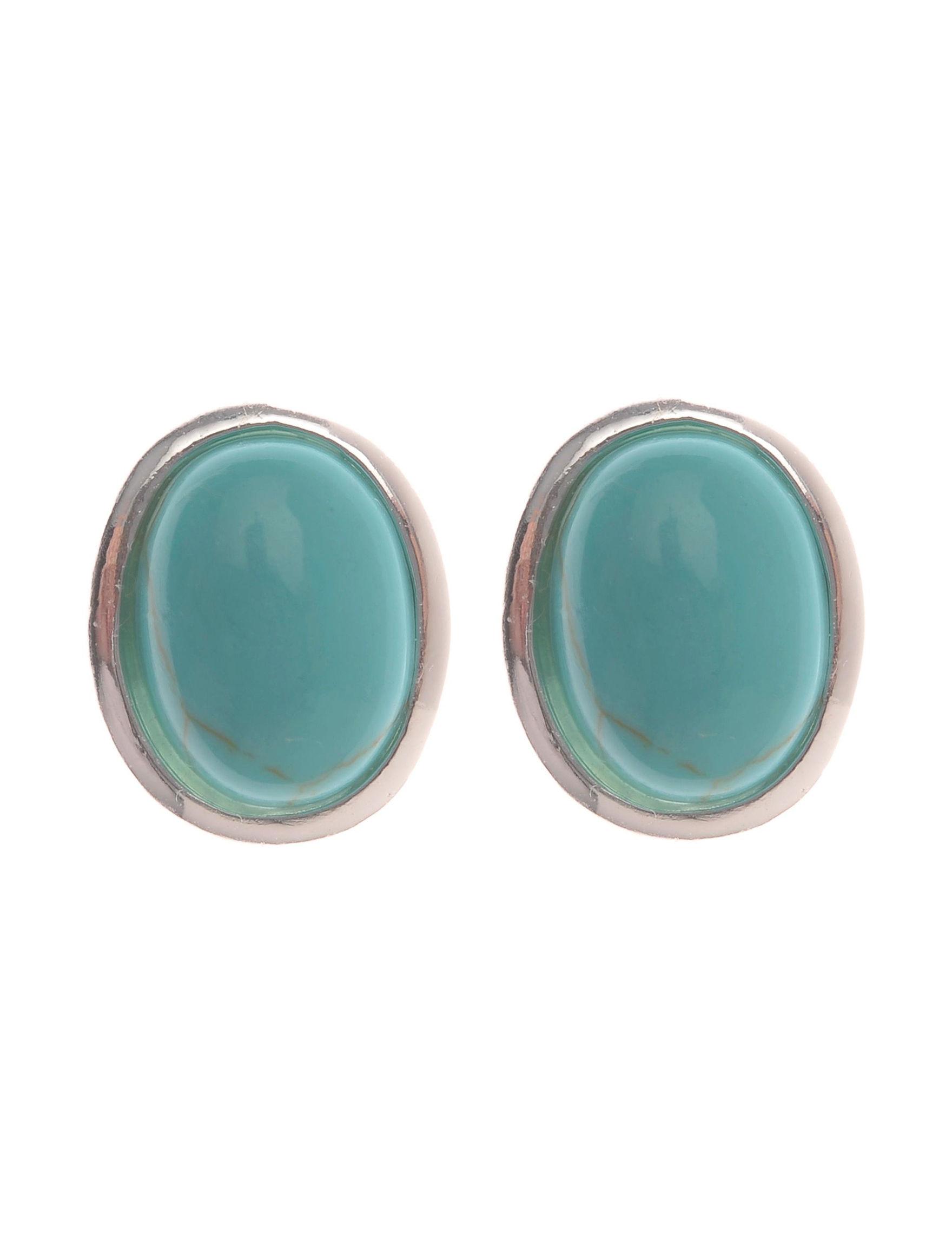 L & J White / Silver Studs Earrings Fine Jewelry