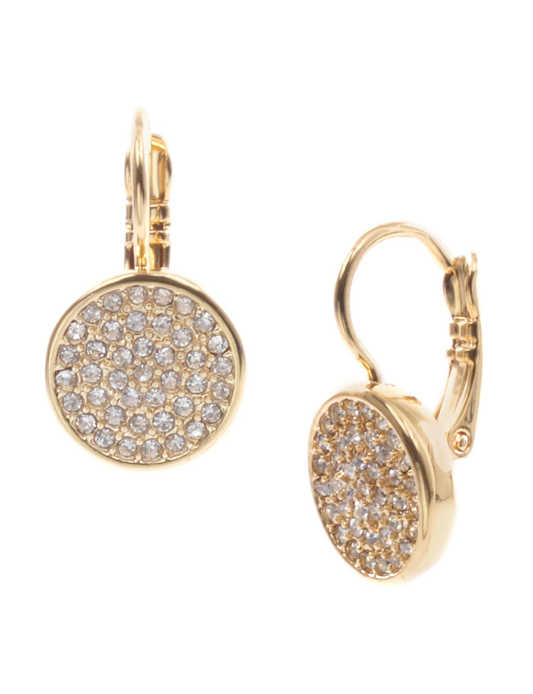 Anne Klein Gold Drops Earrings Fashion Jewelry