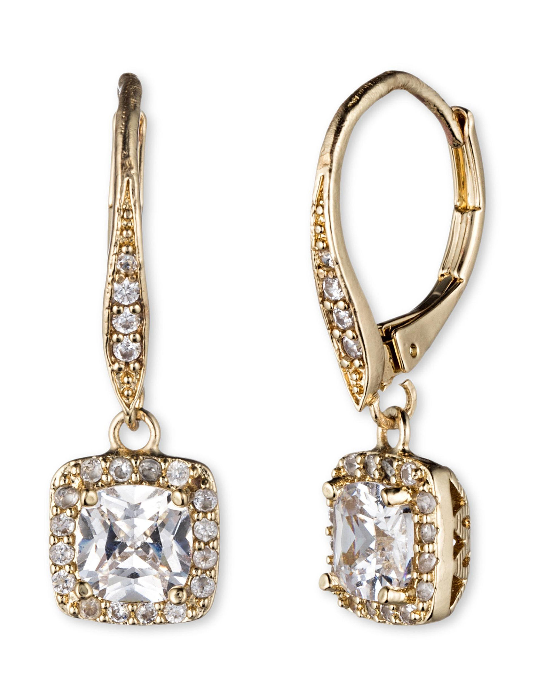 Anne Klein Gold Drops Earrings Fashion Jewelry